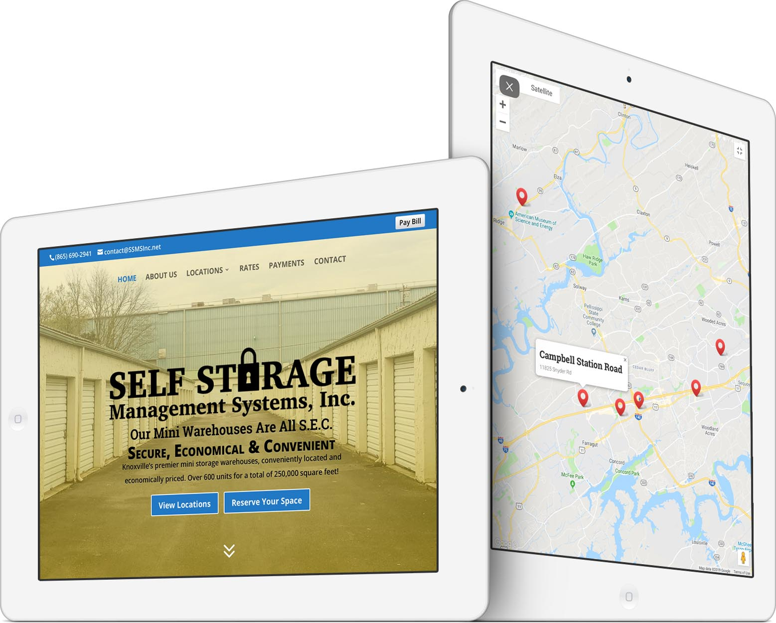 Self Storage Management Systems Responsive Web Design