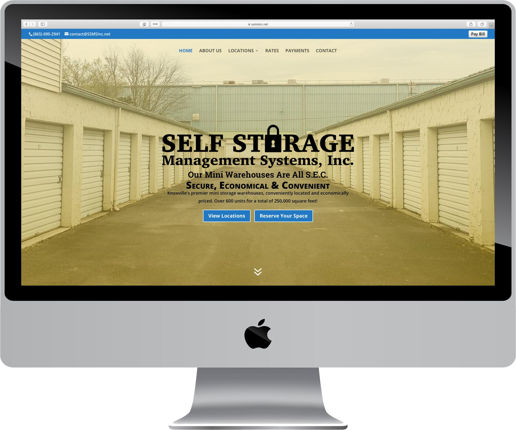 Self Storage Management Systems Website Design