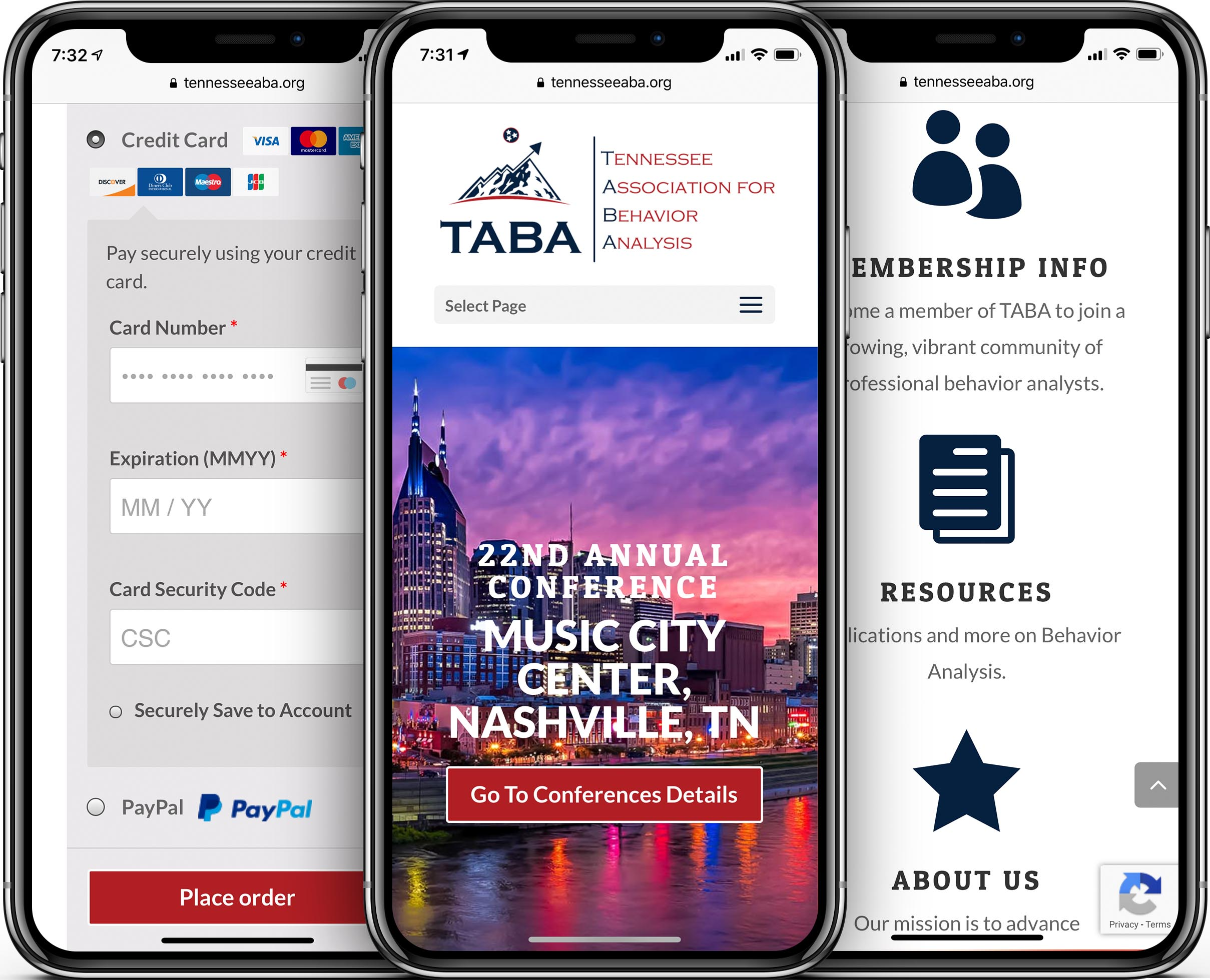 Tennessee Association for Behavior Analysis Mobile-Friendly Web Design