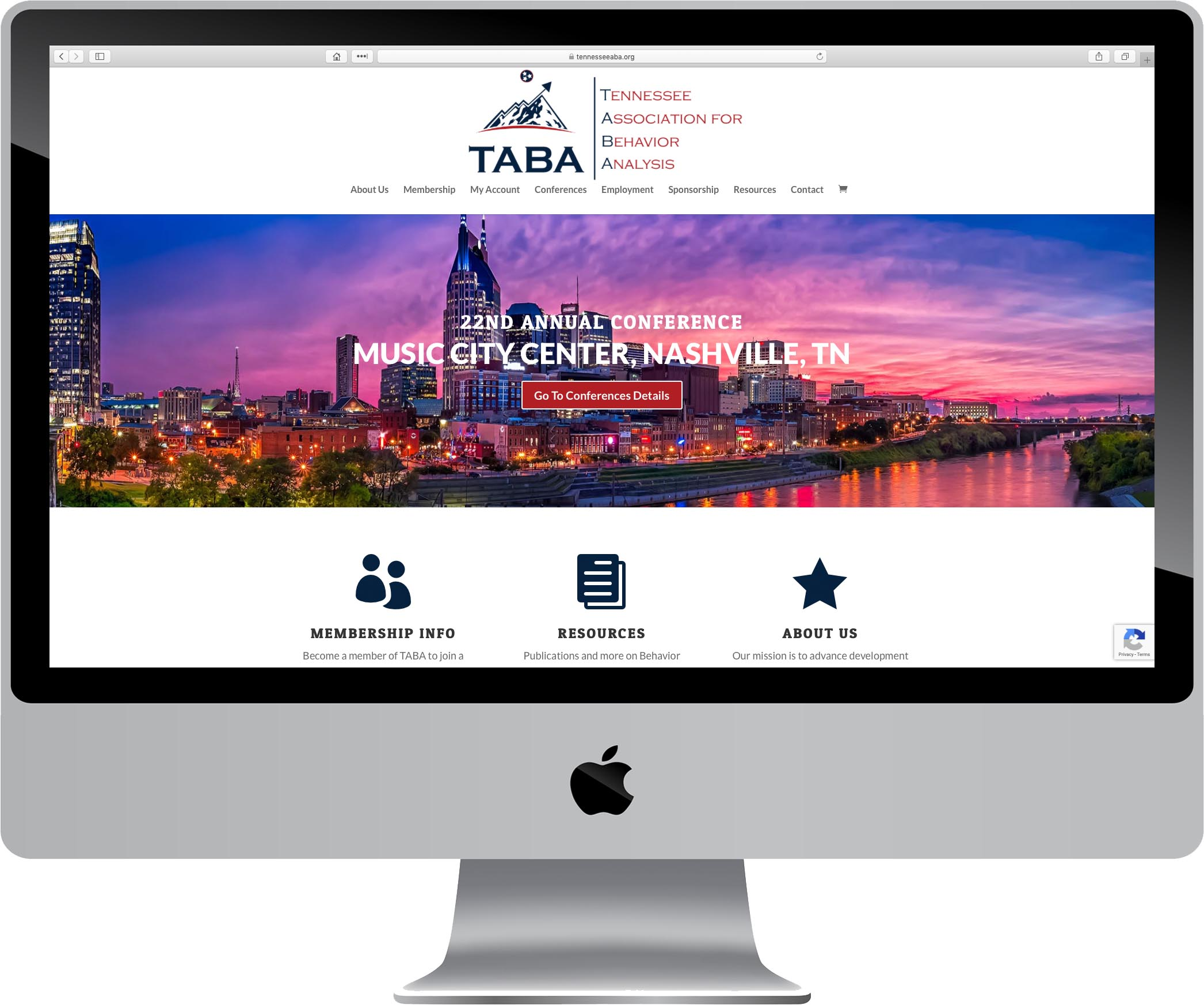 Tennessee Association for Behavior Analysis Website Design