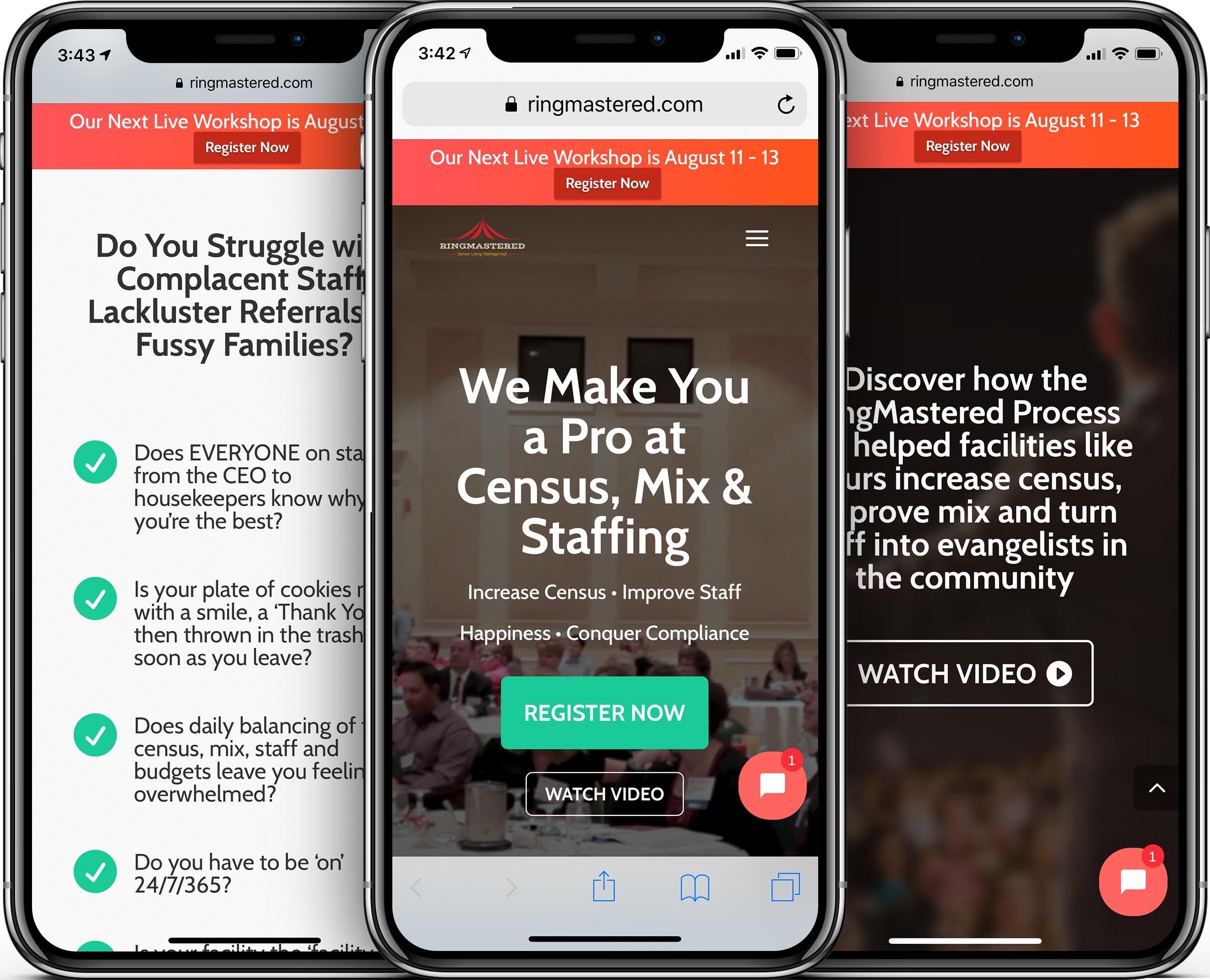 RingMastered Mobile-Friendly Web Design