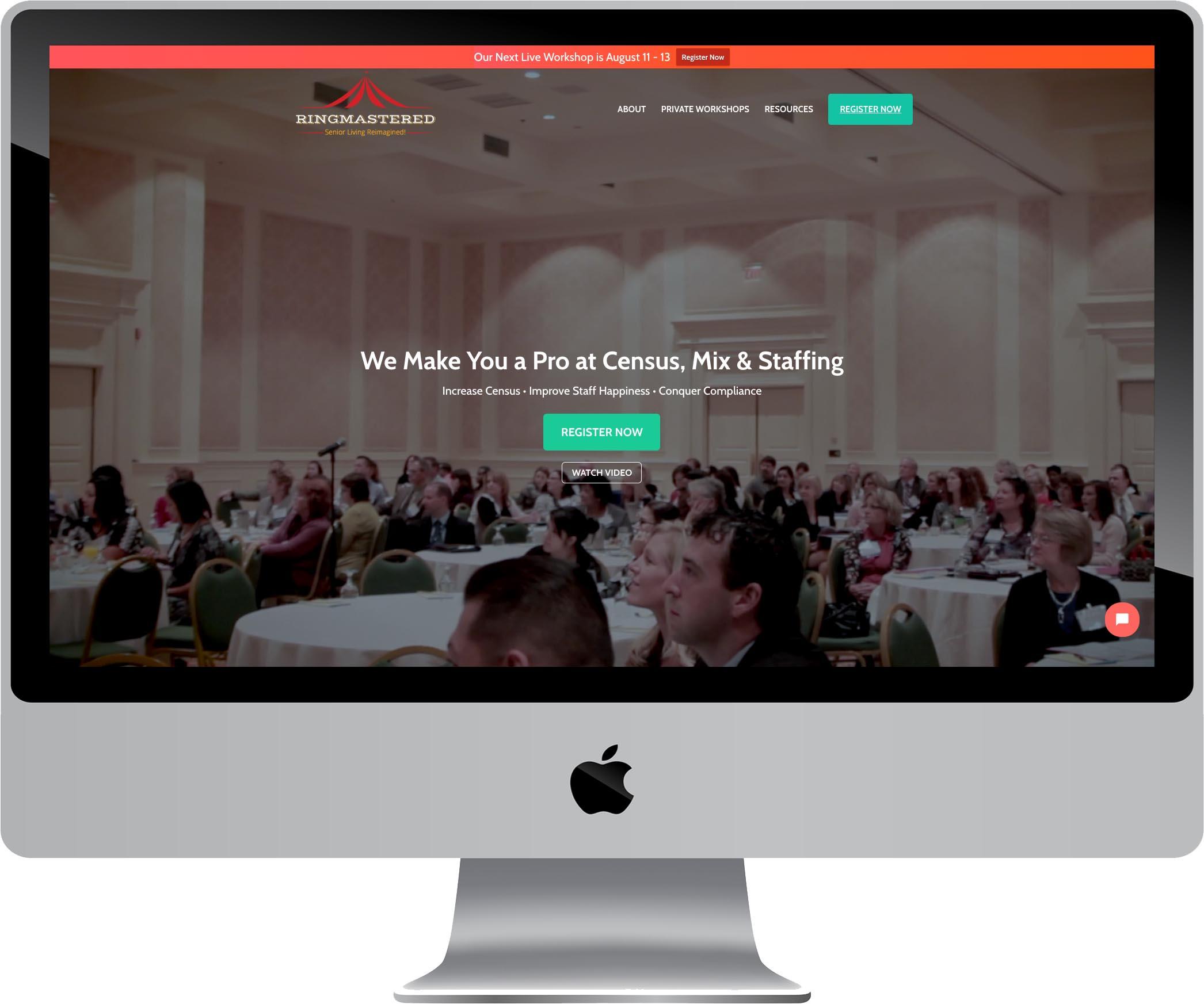 RingMastered Website Design
