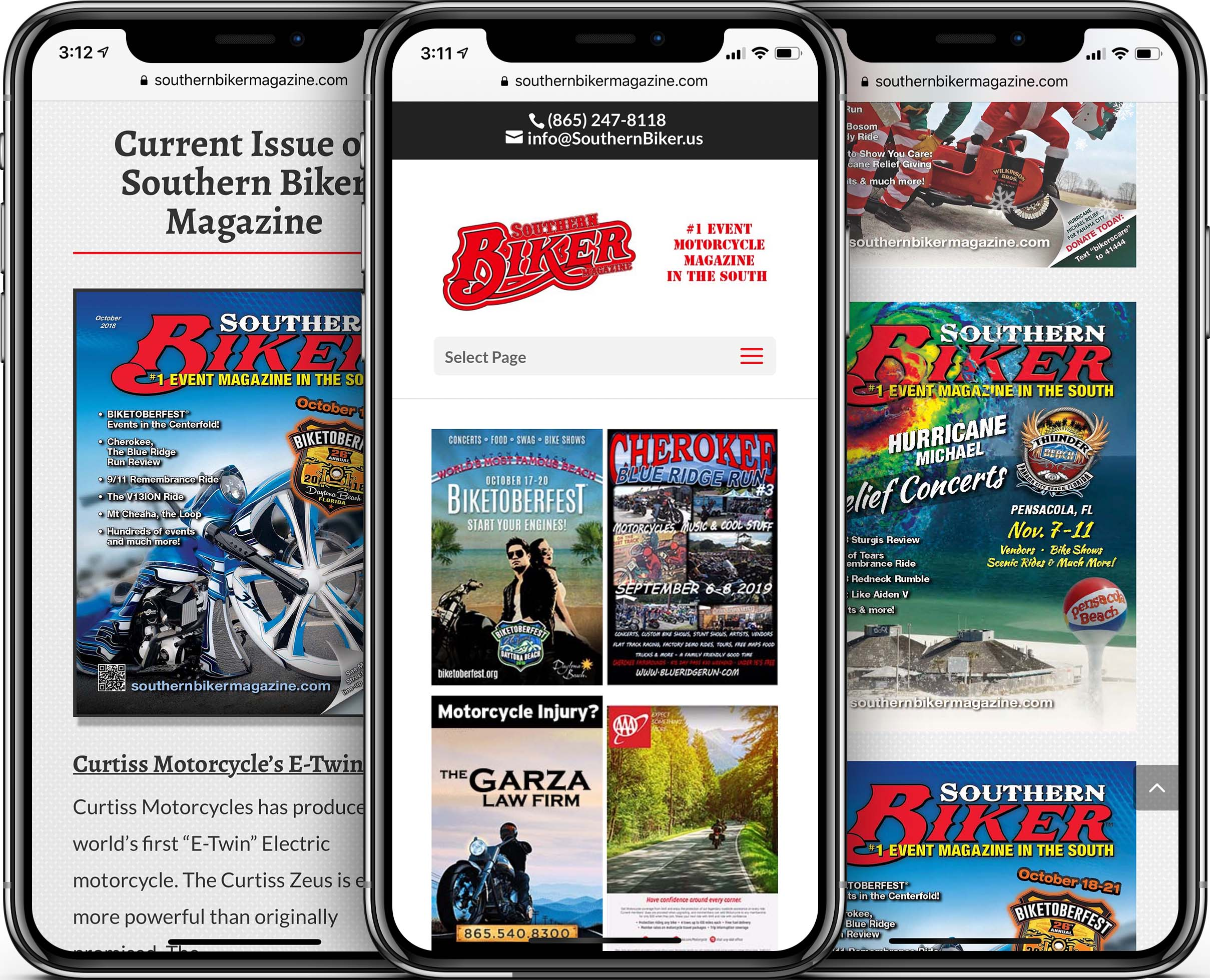 Southern Biker Magazine Mobile-Friendly Web Design