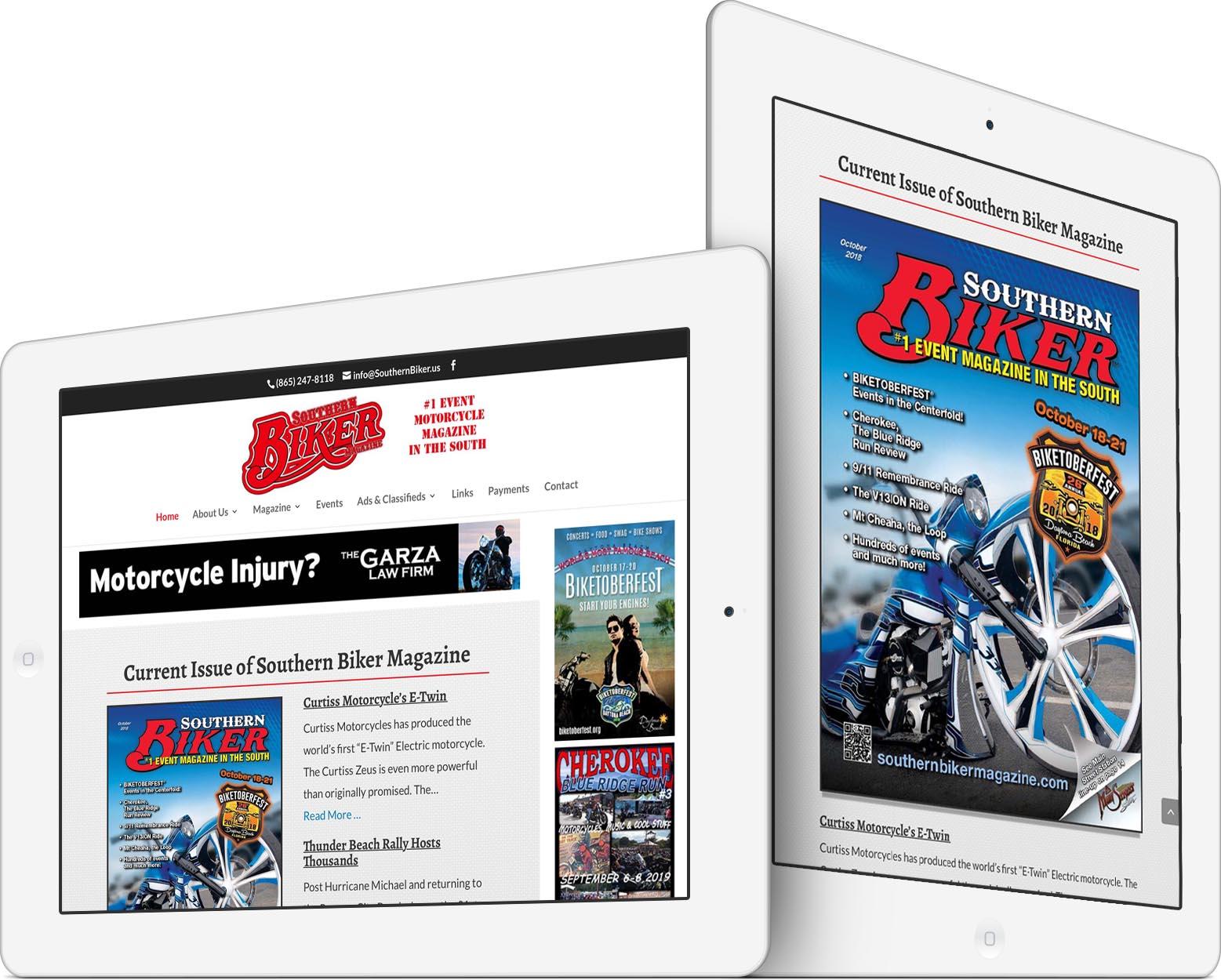 Southern Biker Magazine Responsive Web Design