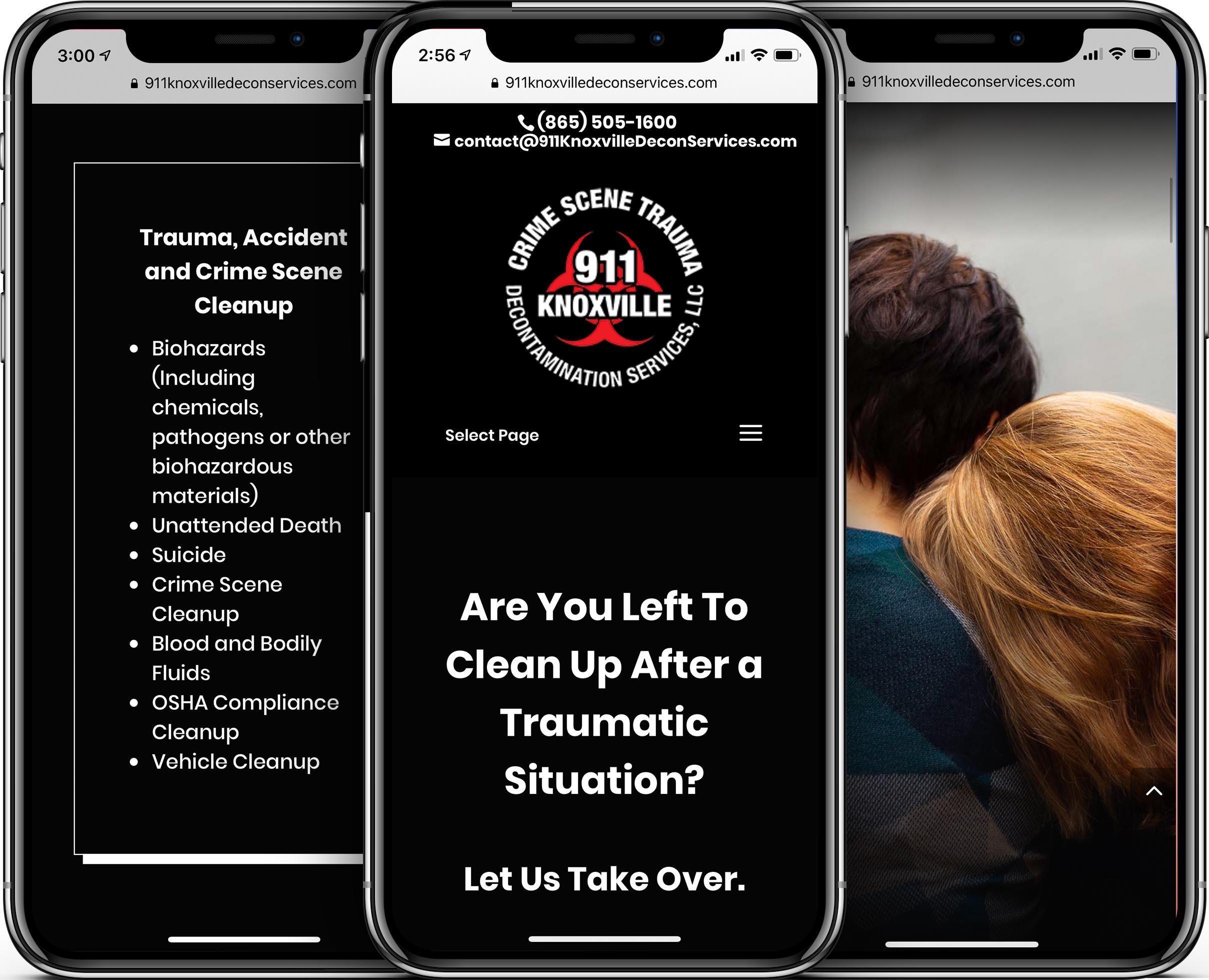 911 Decontamination Services Mobile-Friendly Web Design