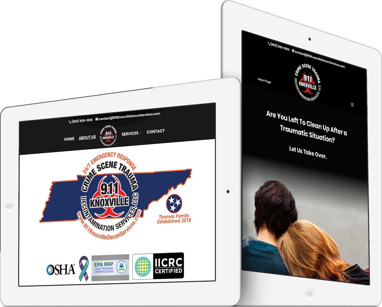 911 Decontamination Services Responsive Web Design