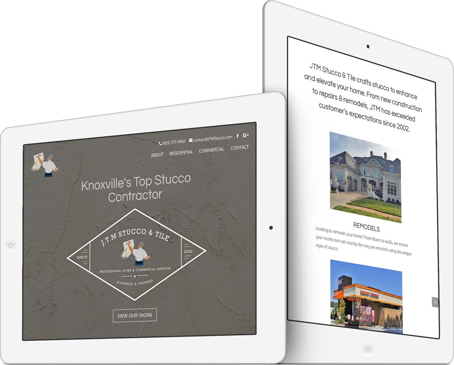 JTM Stucco & Tile Responsive Web Design