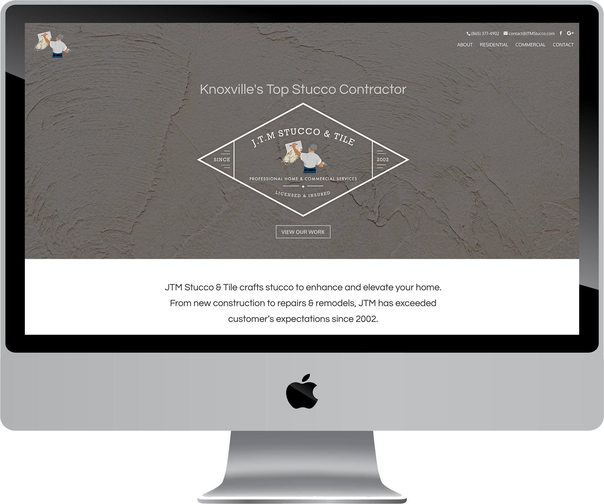 JTM Stucco & Tile Website Design