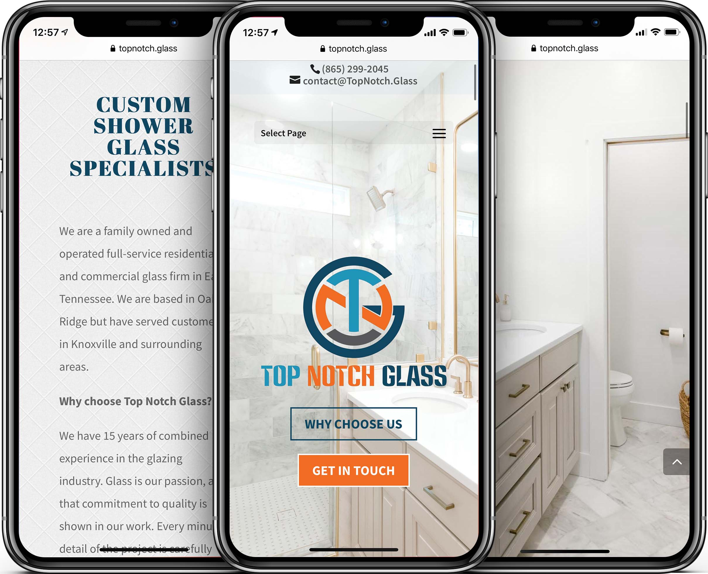 Top Notch Glass Mobile-Friendly Web Design