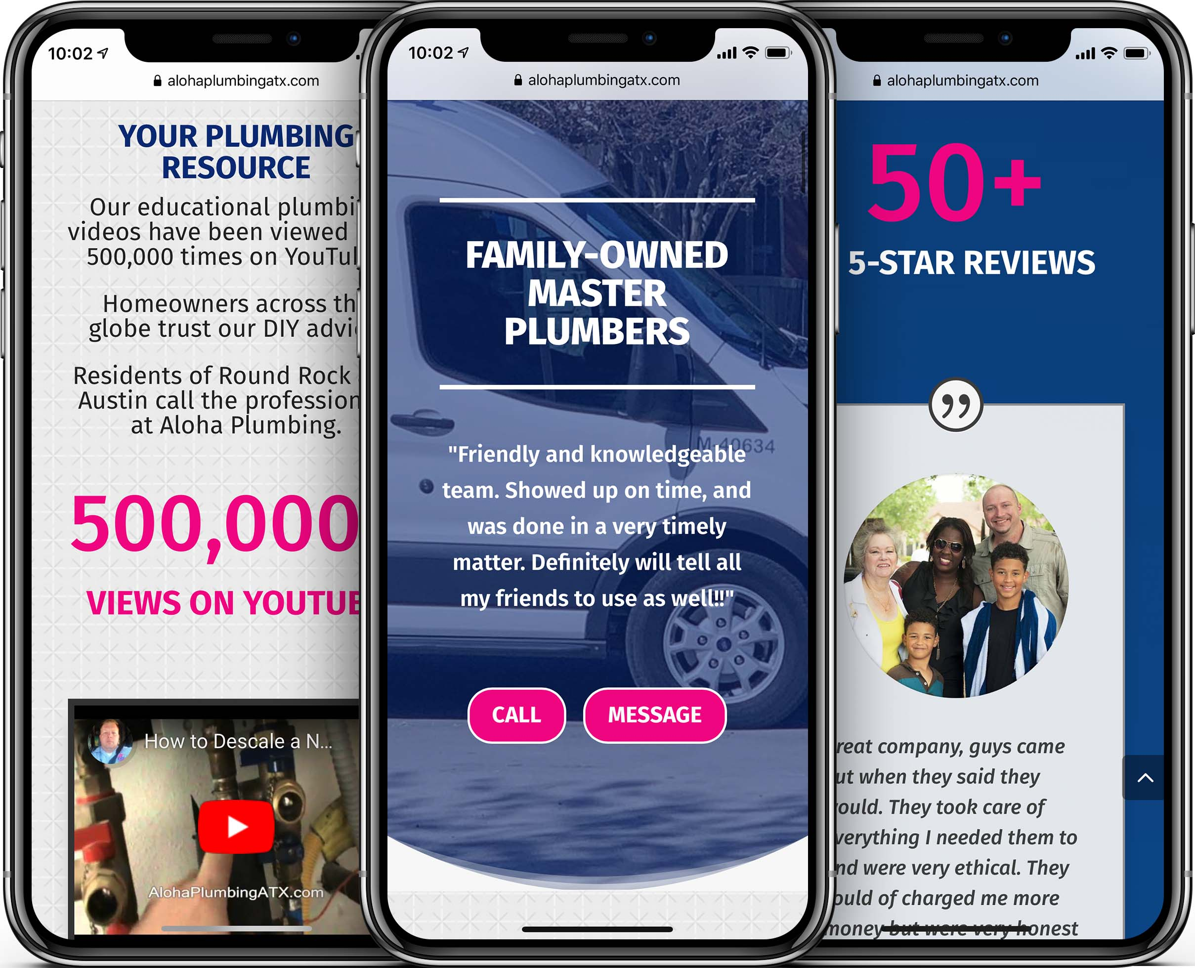 Aloha Plumbing Mobile-Friendly Web Design