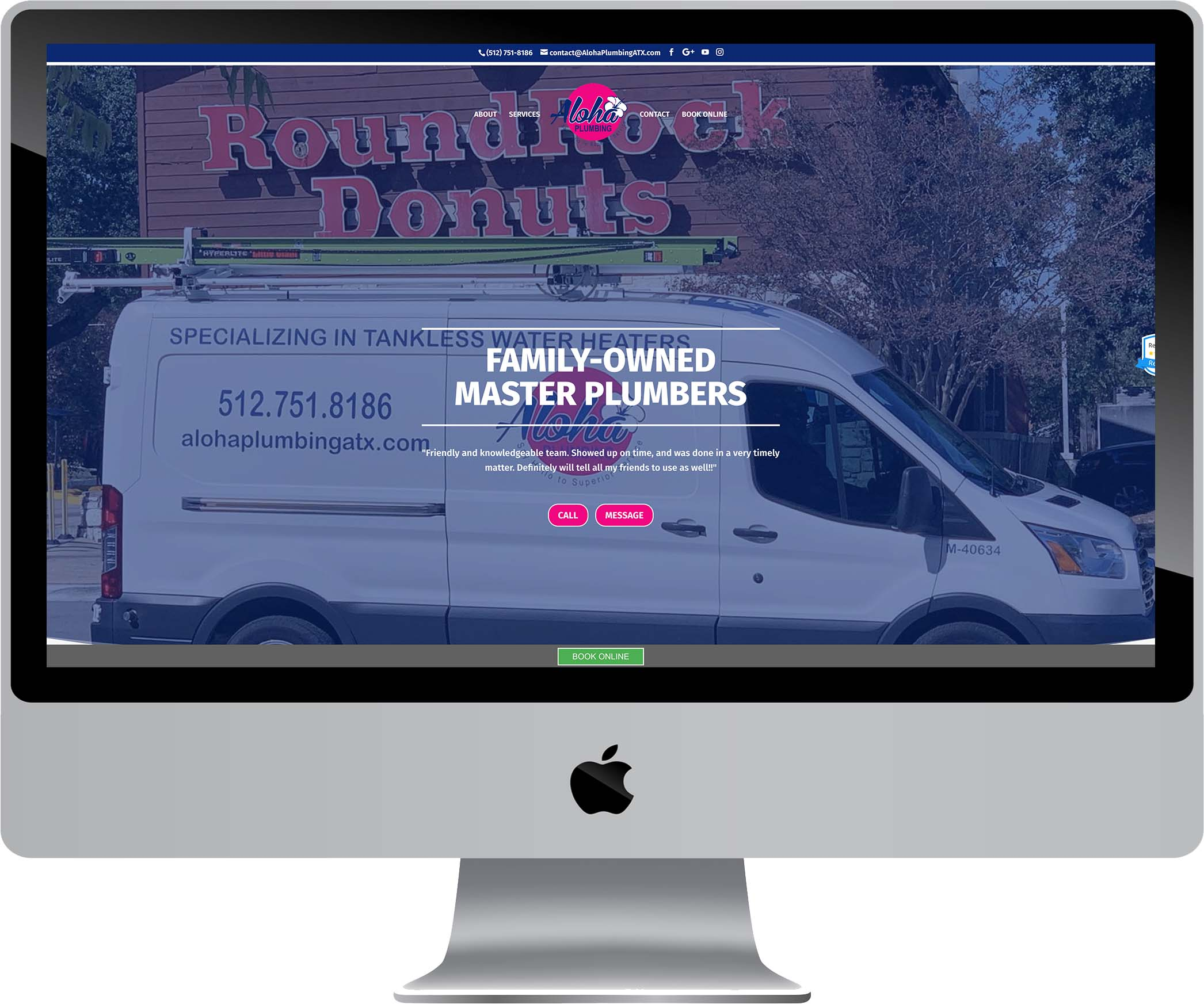 Aloha Plumbing Website Design