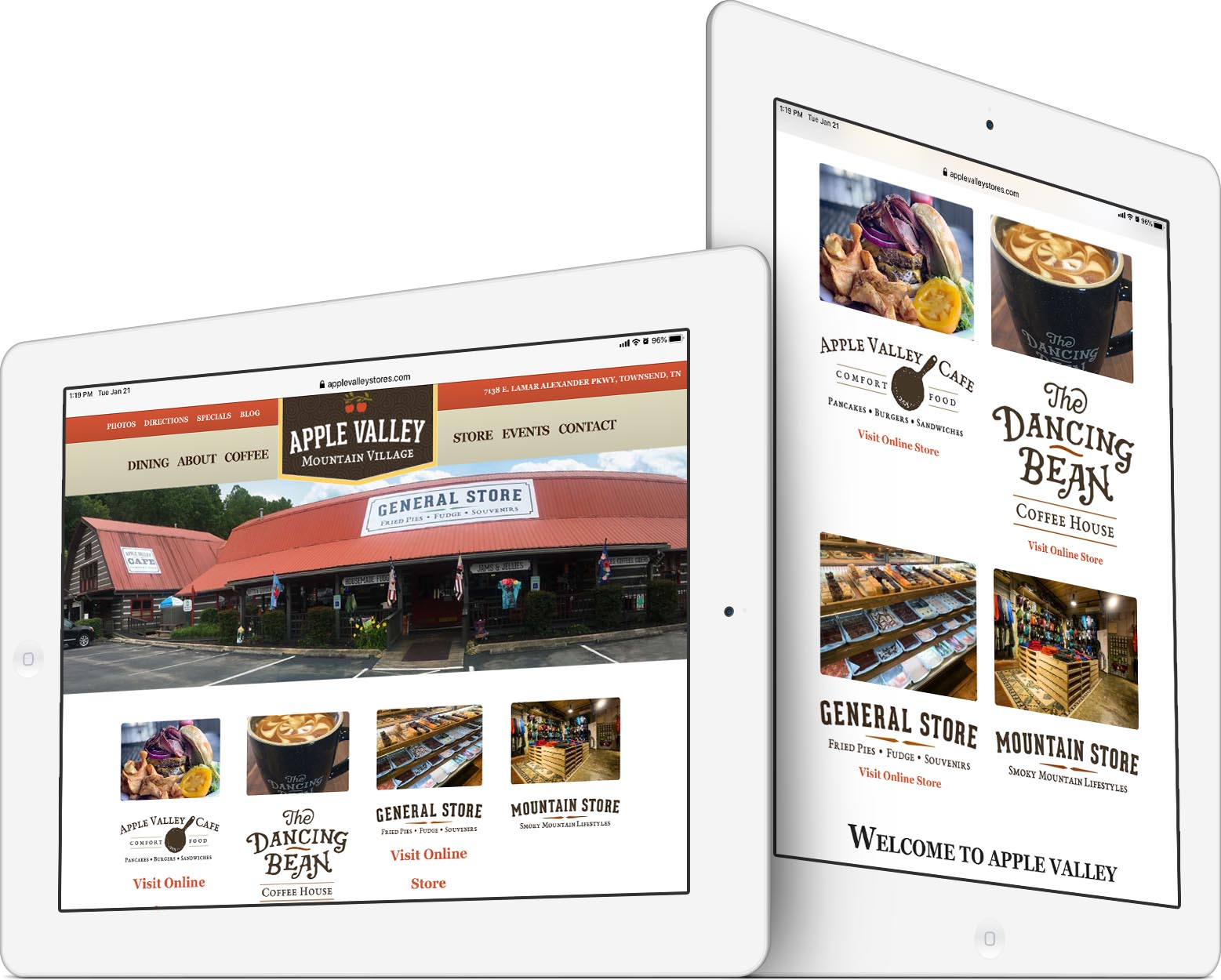 Apple Valley Stores Responsive Web Design