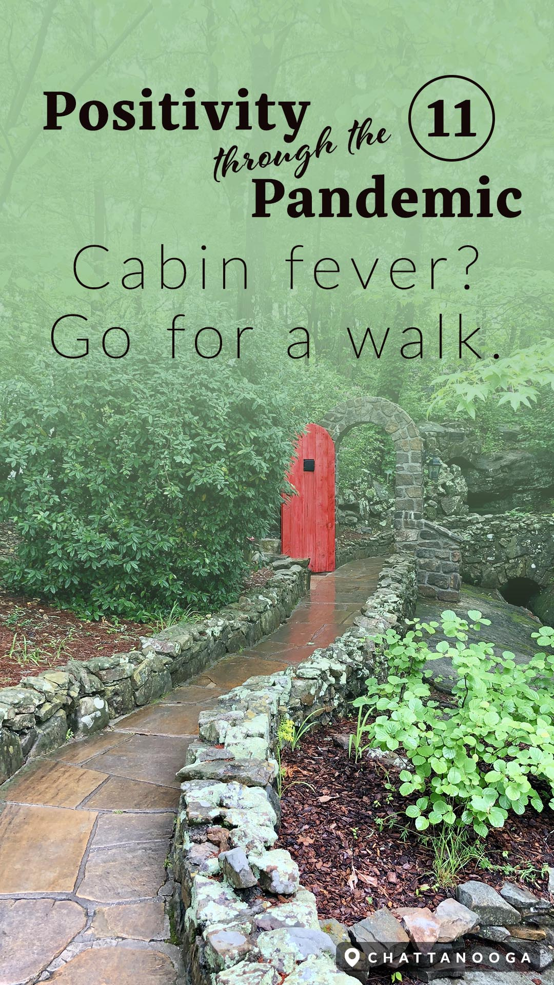 Positivity through the Pandemic #11: Cabin fever go for a walk