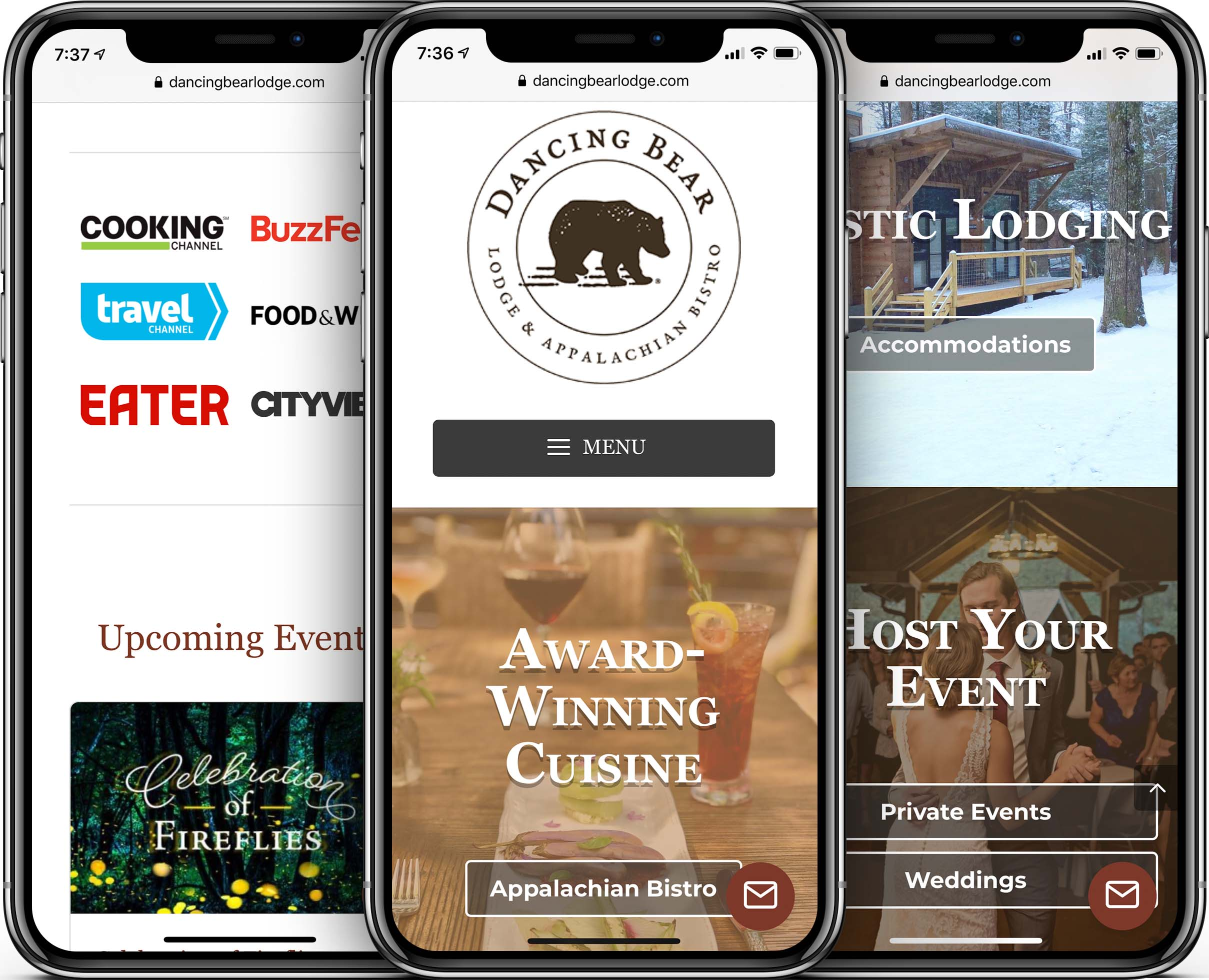 Dancing Bear Lodge Mobile-Friendly Web Design