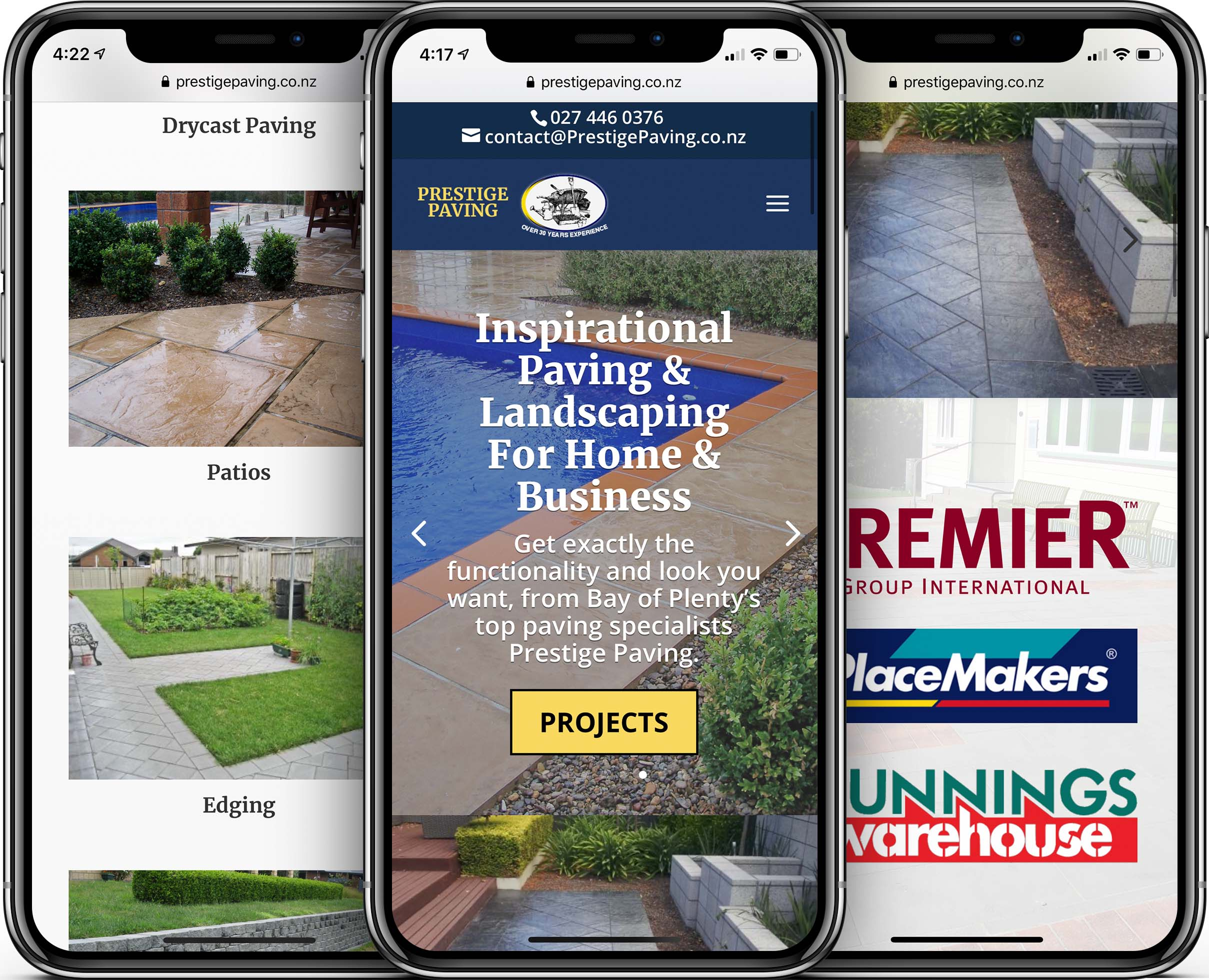 Prestige Paving Mobile-Friendly Web Design