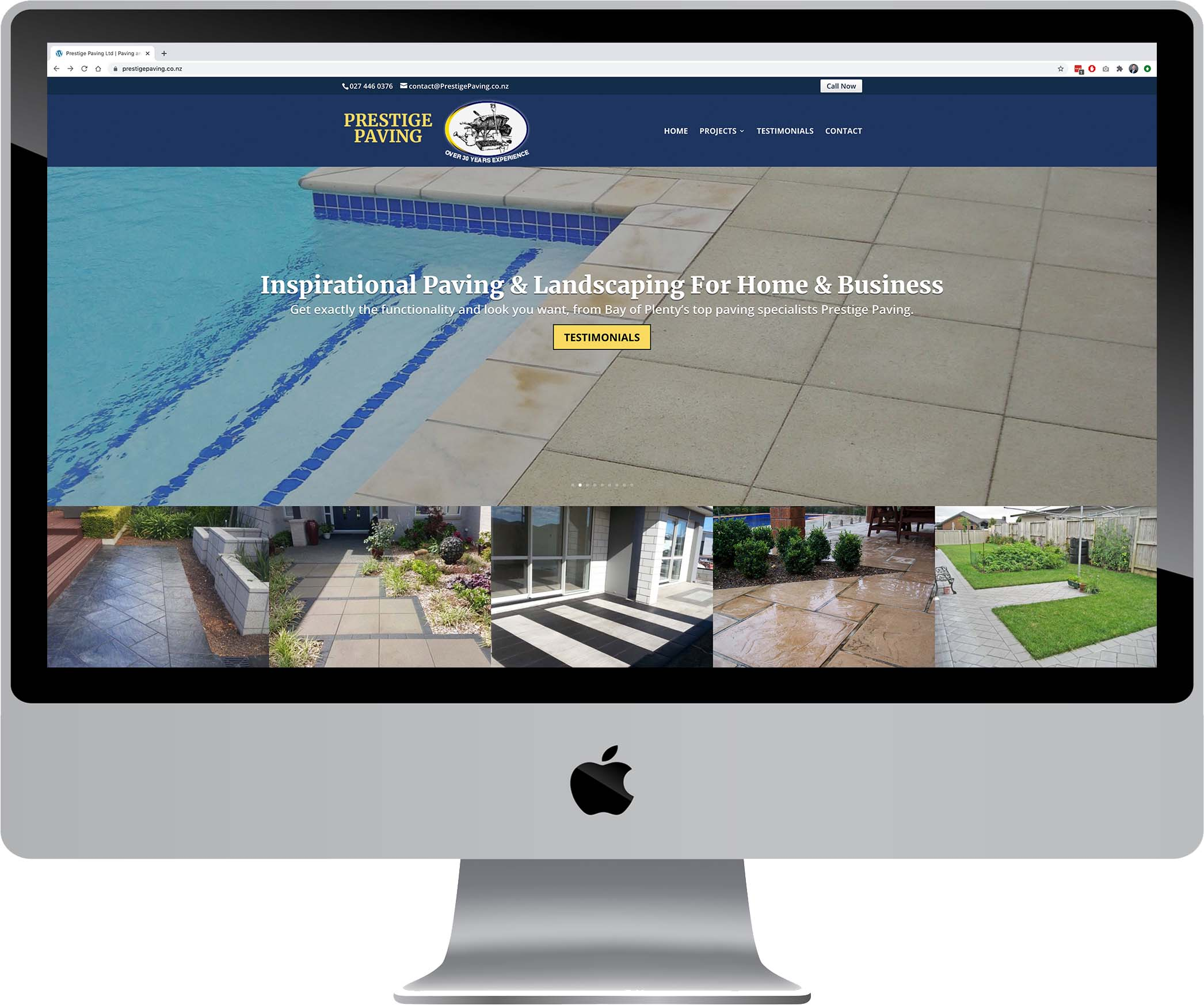 Prestige Paving Website Design