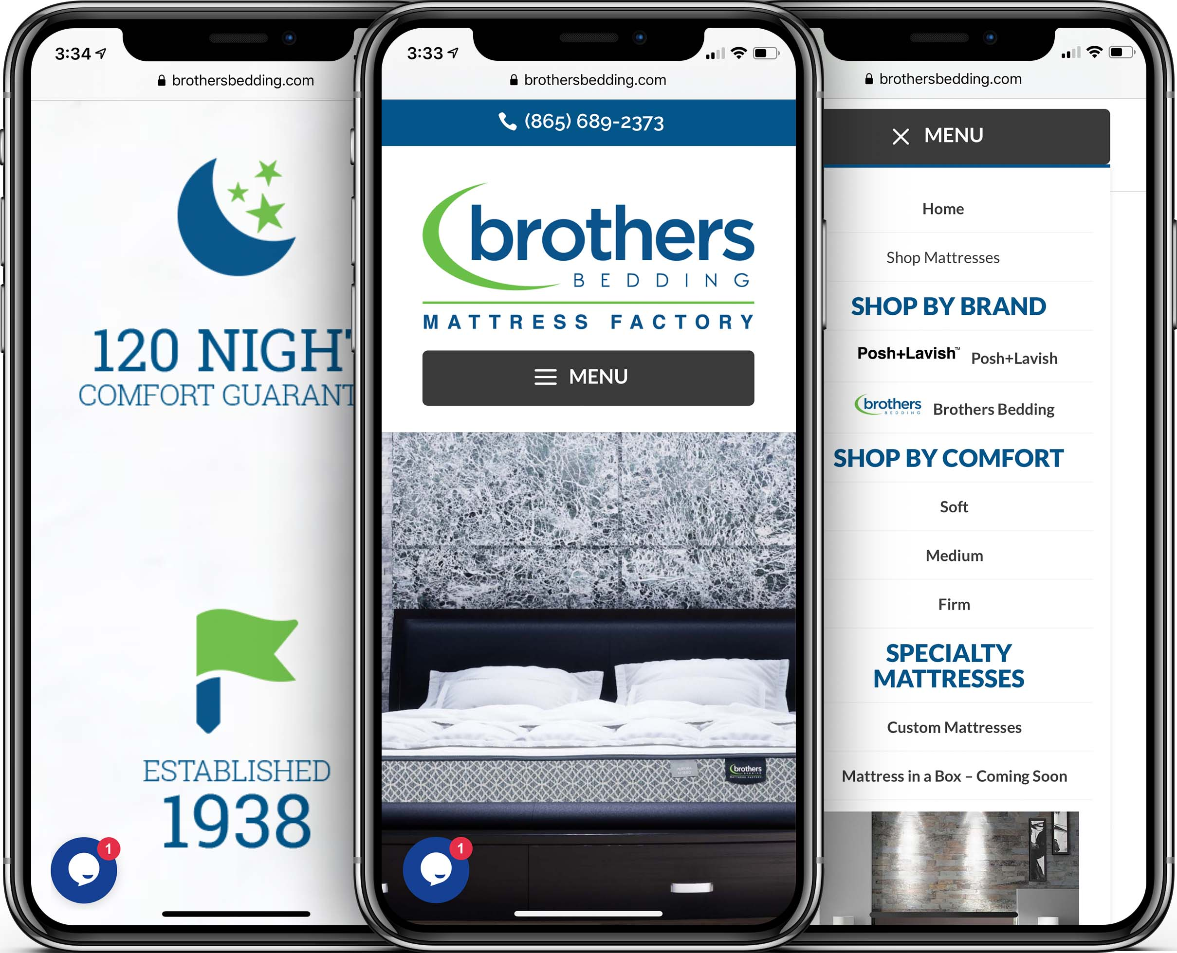 Brothers Bedding Mobile-Friendly Web Design