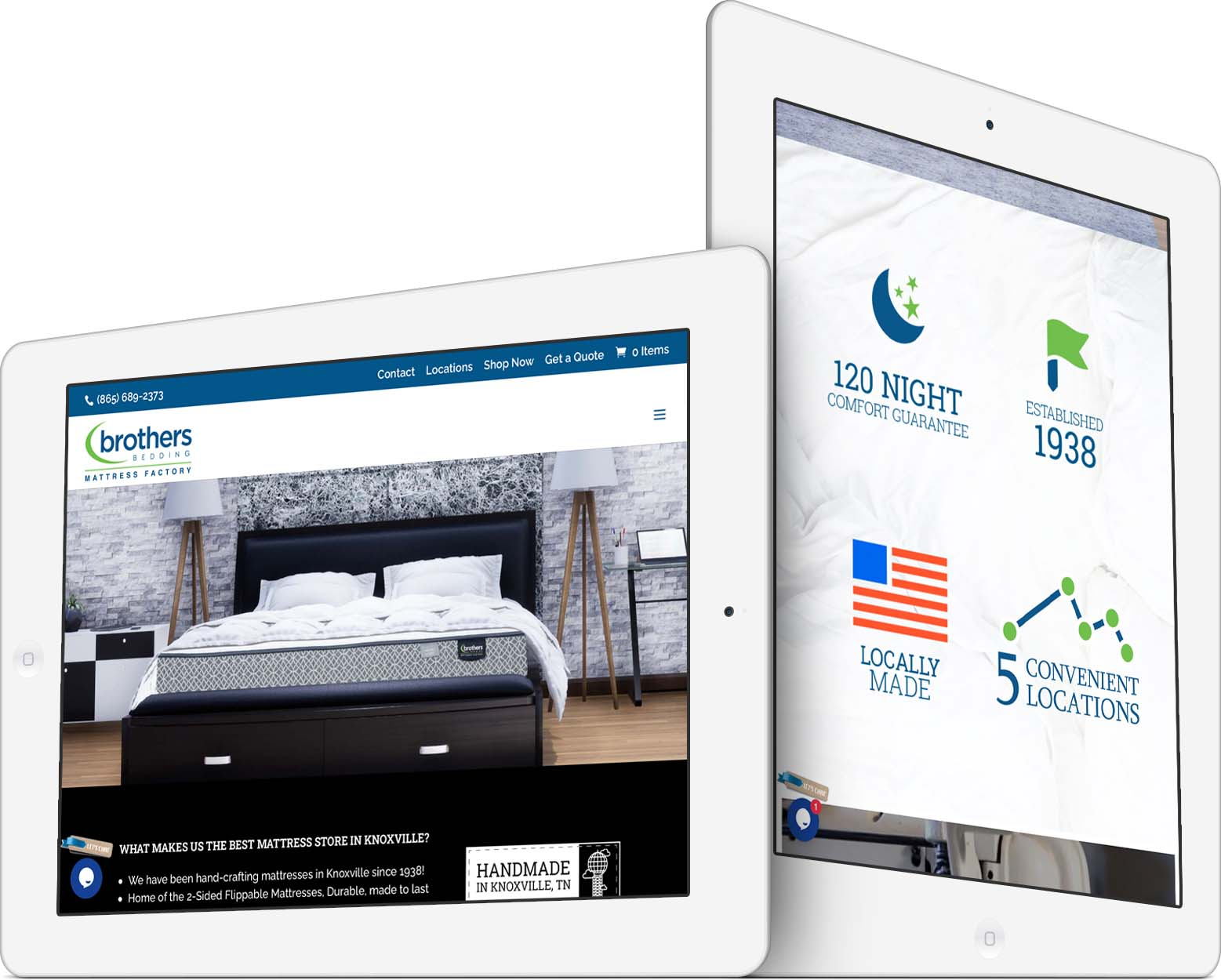 Brothers Bedding Responsive Web Design