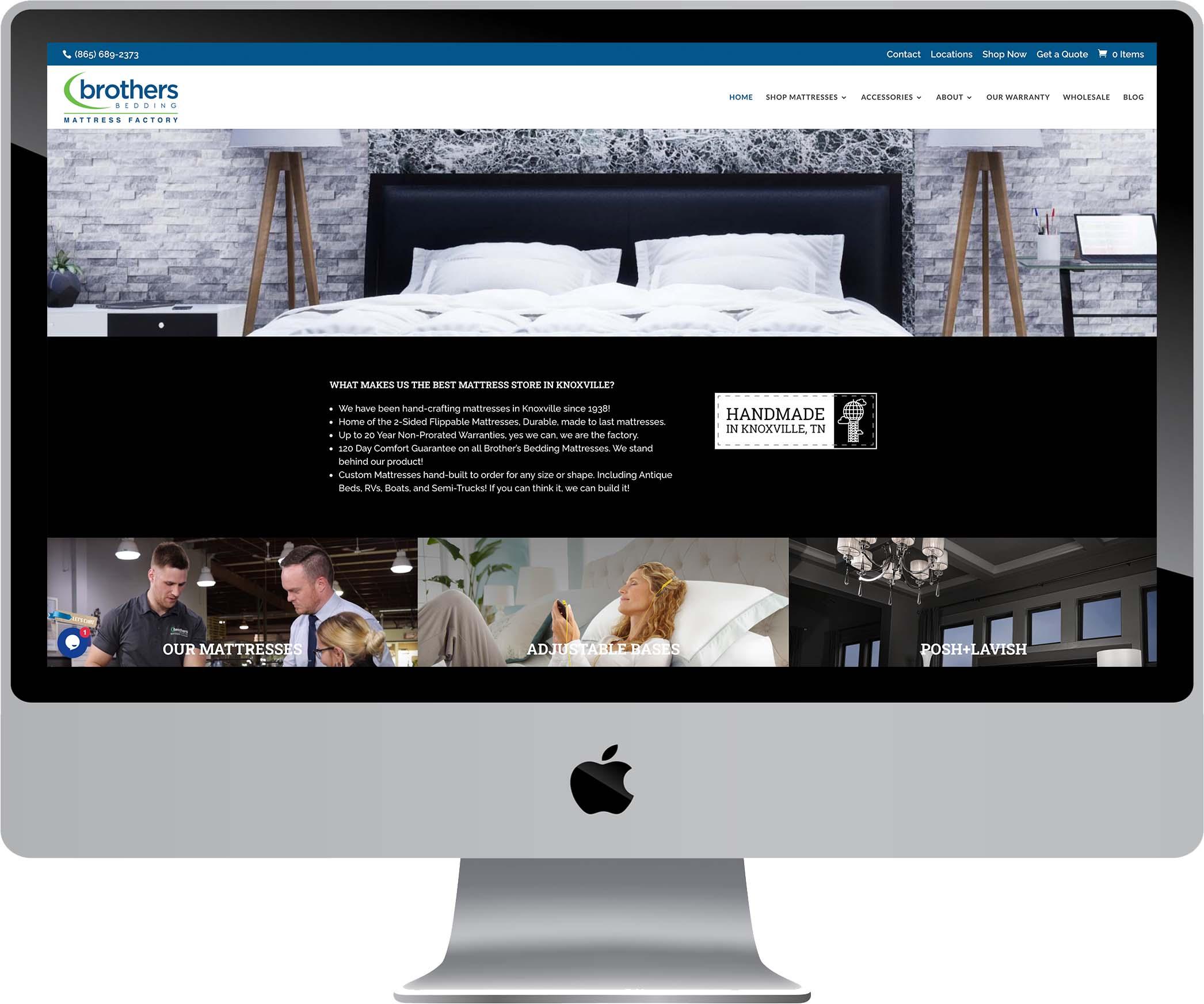 Brothers Bedding Website Design