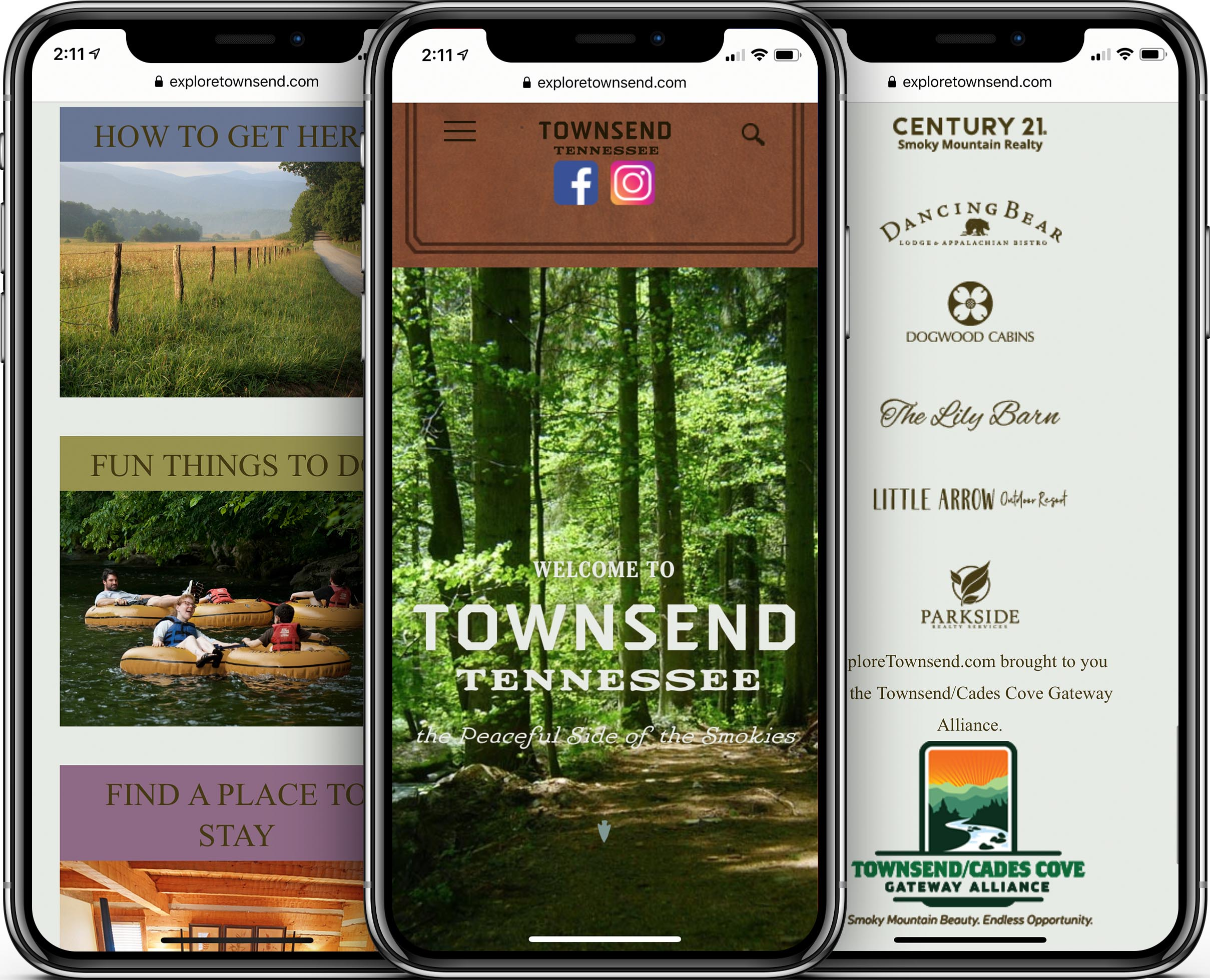 Explore Townsend Mobile-Friendly Web Design