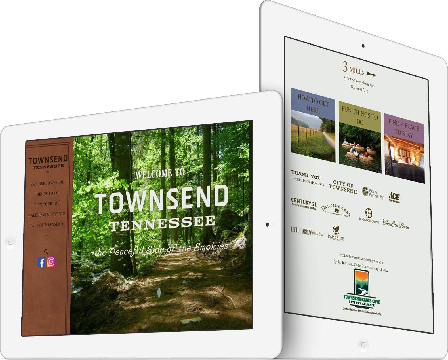 Explore Townsend Responsive Web Design
