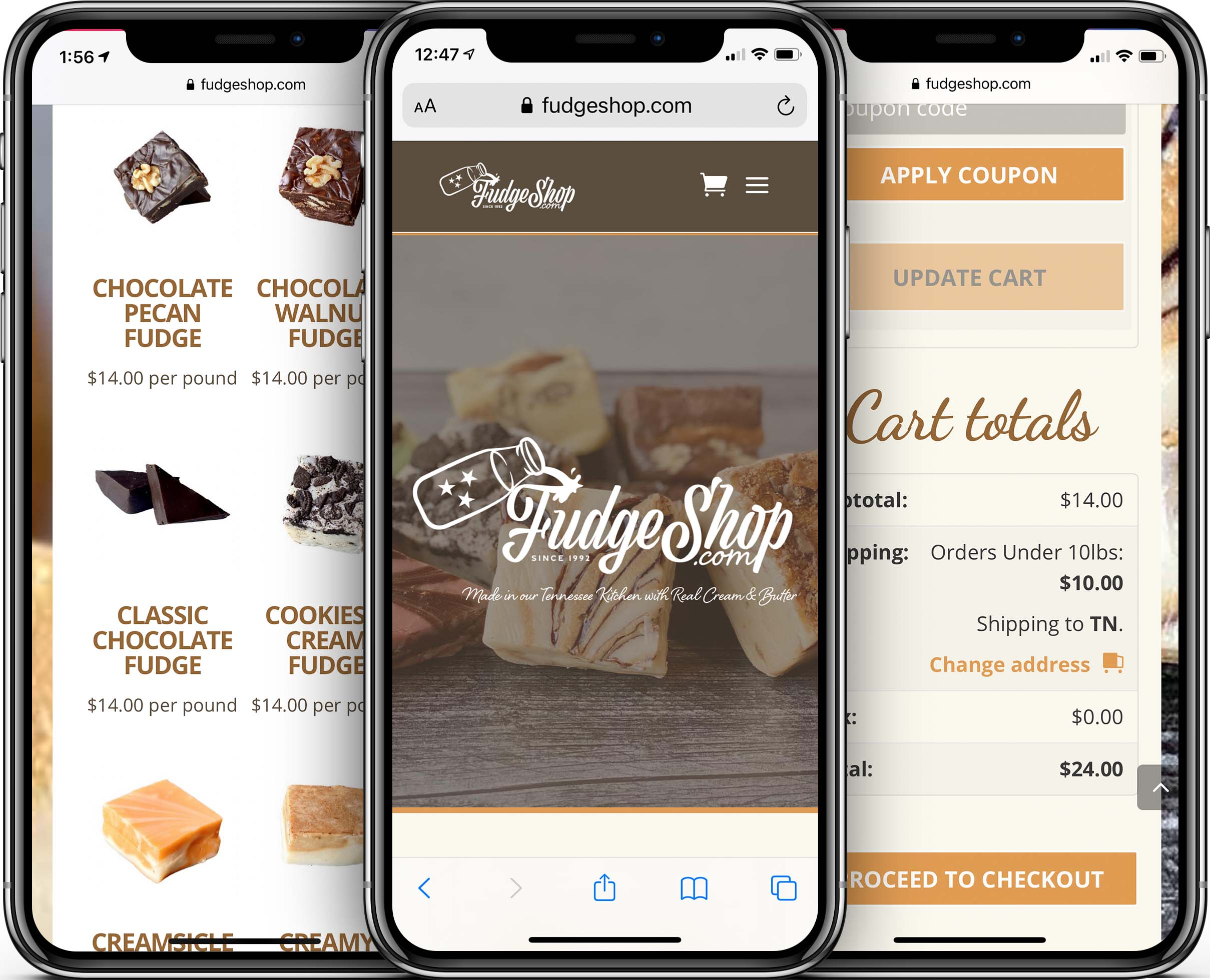 Fudge Shop Mobile-Friendly Web Design