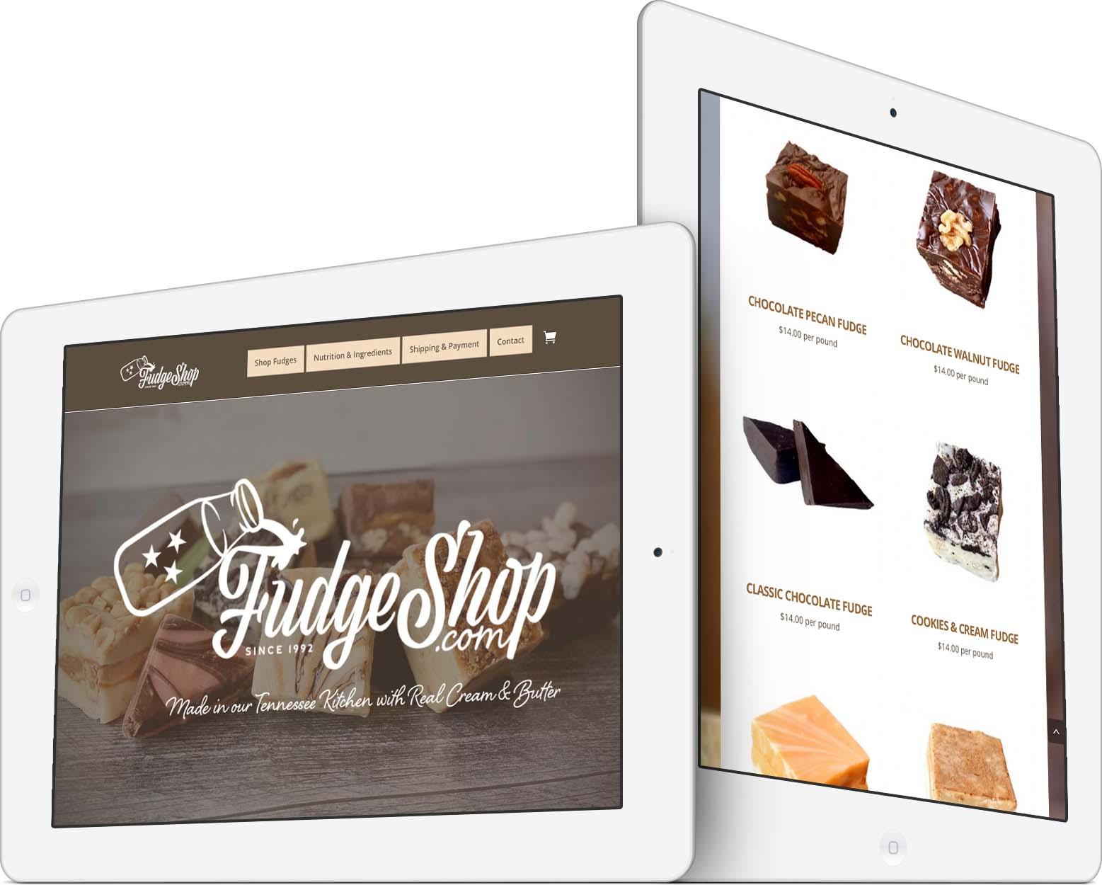 Fudge Shop Responsive Web Design