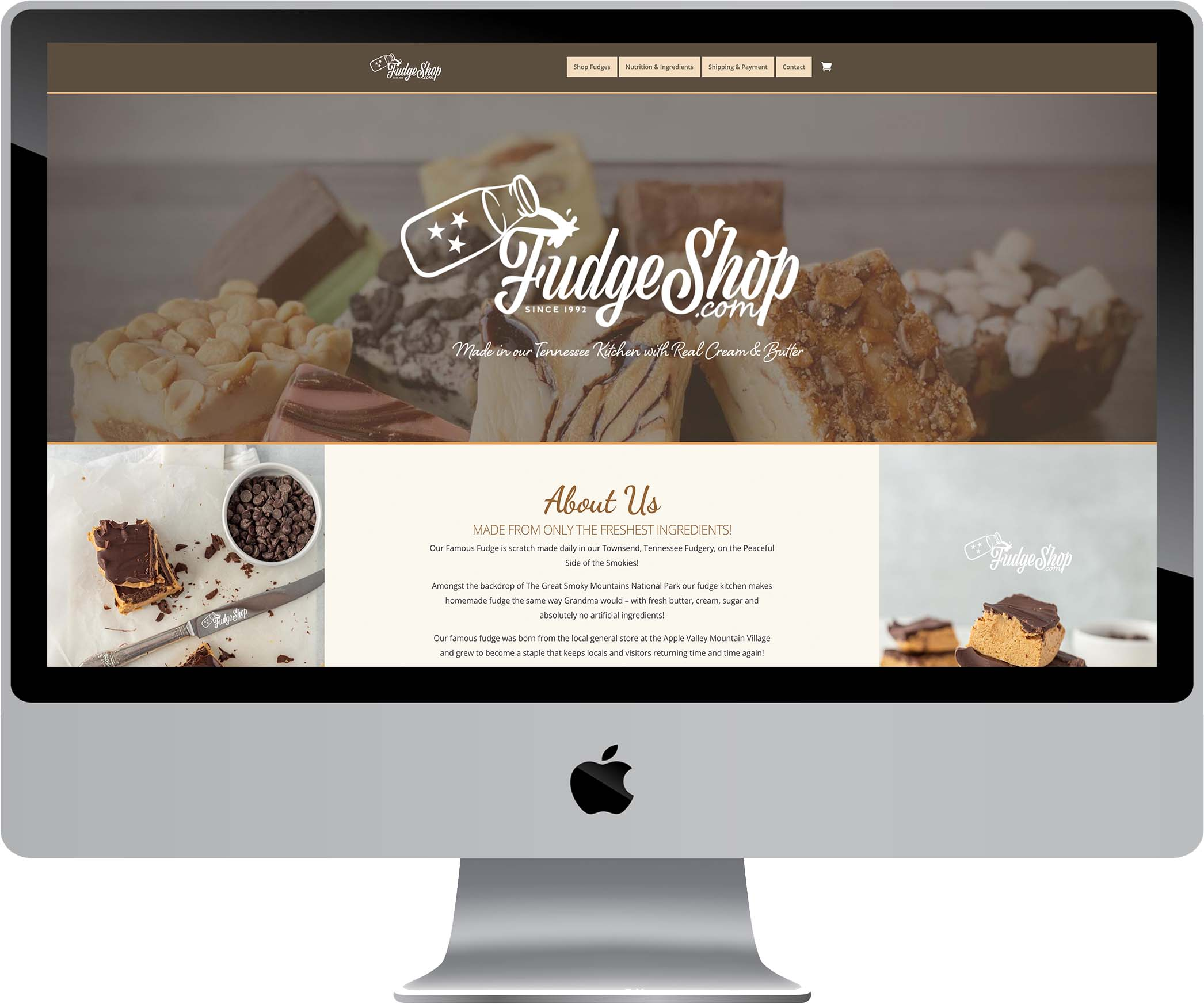 Fudge Shop Website Design