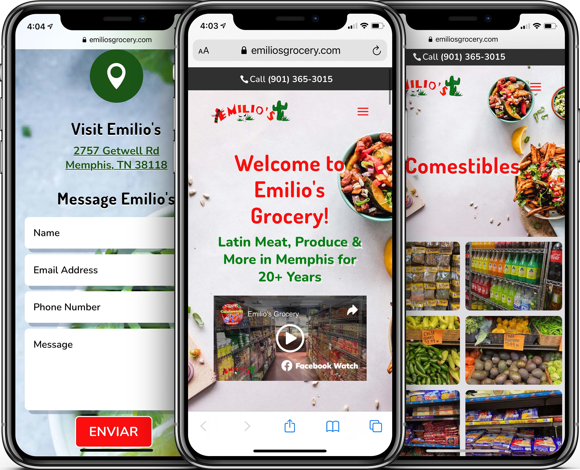 Emilio's Grocery Mobile-Friendly Web Design