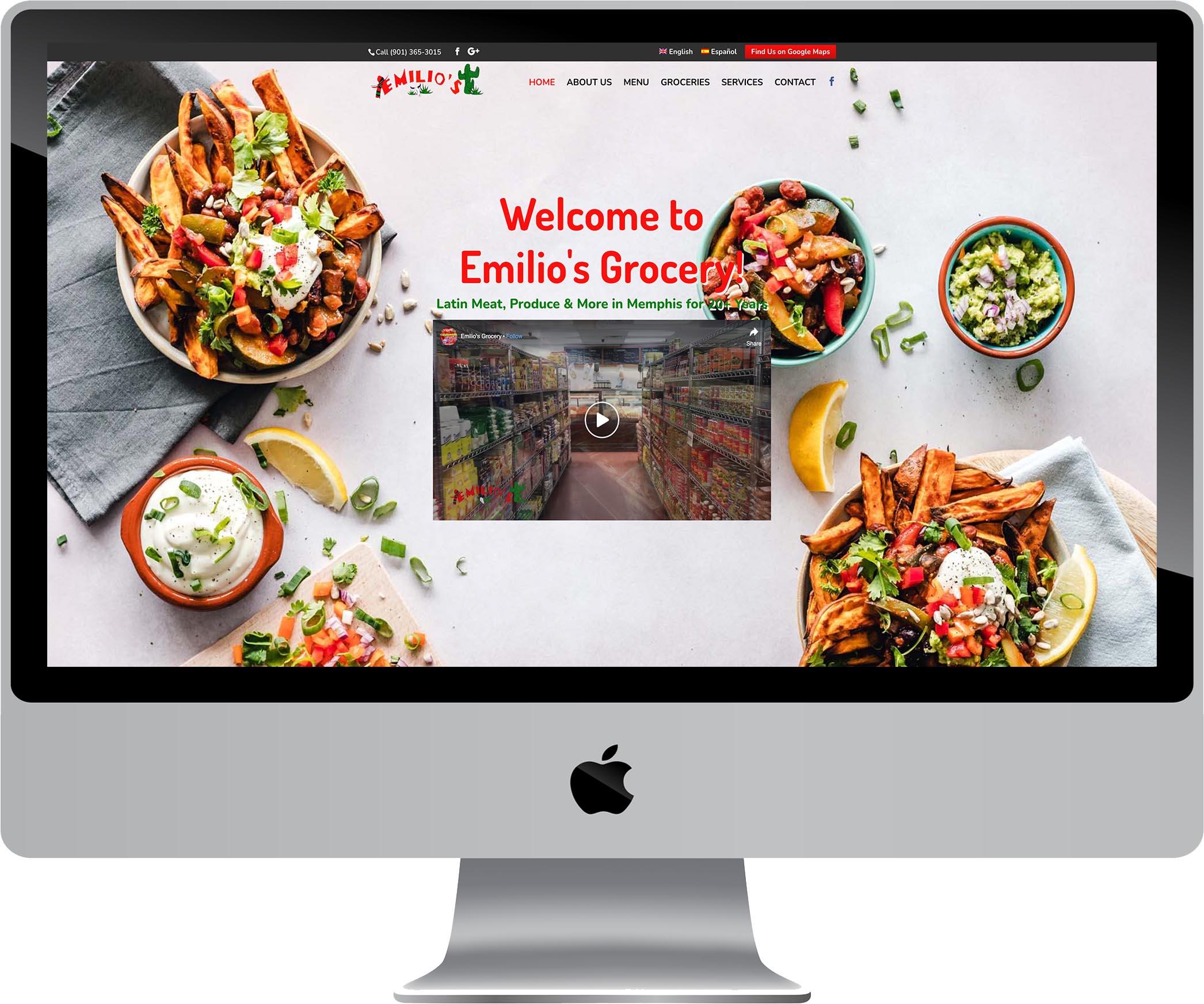 Emilio's Grocery Website Design