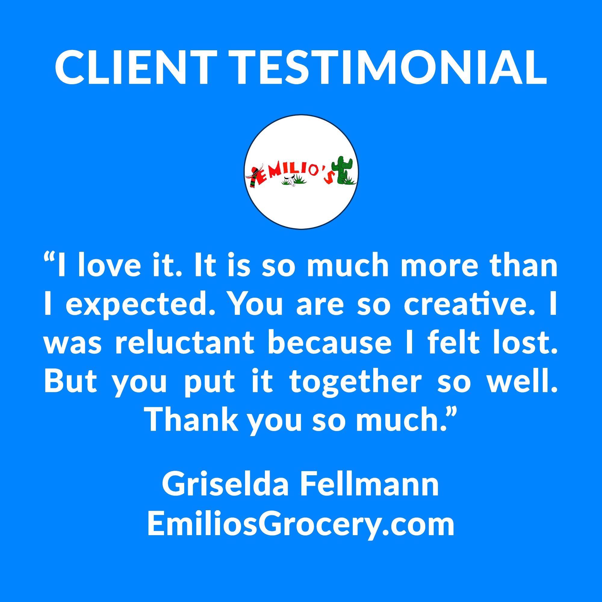 Emilio's Grocery Testimonial