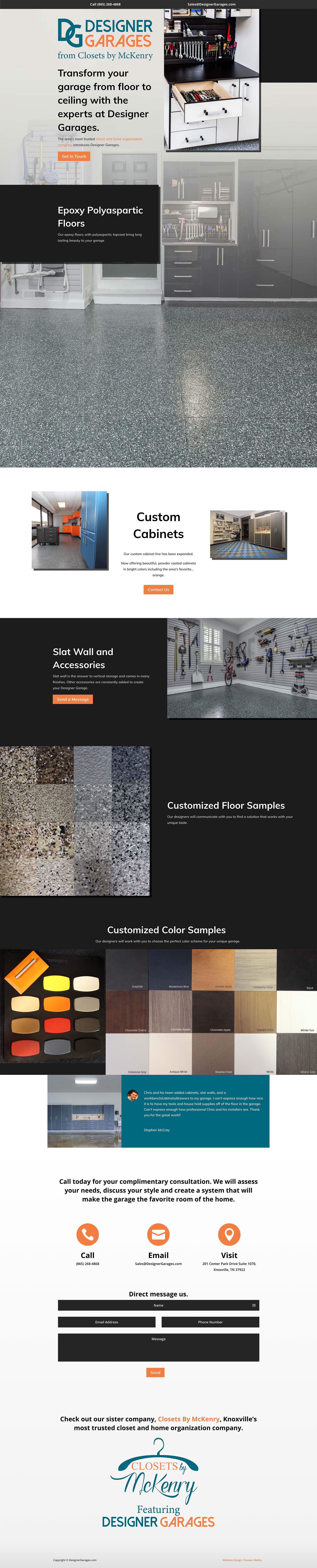 Designer Garages Homepage