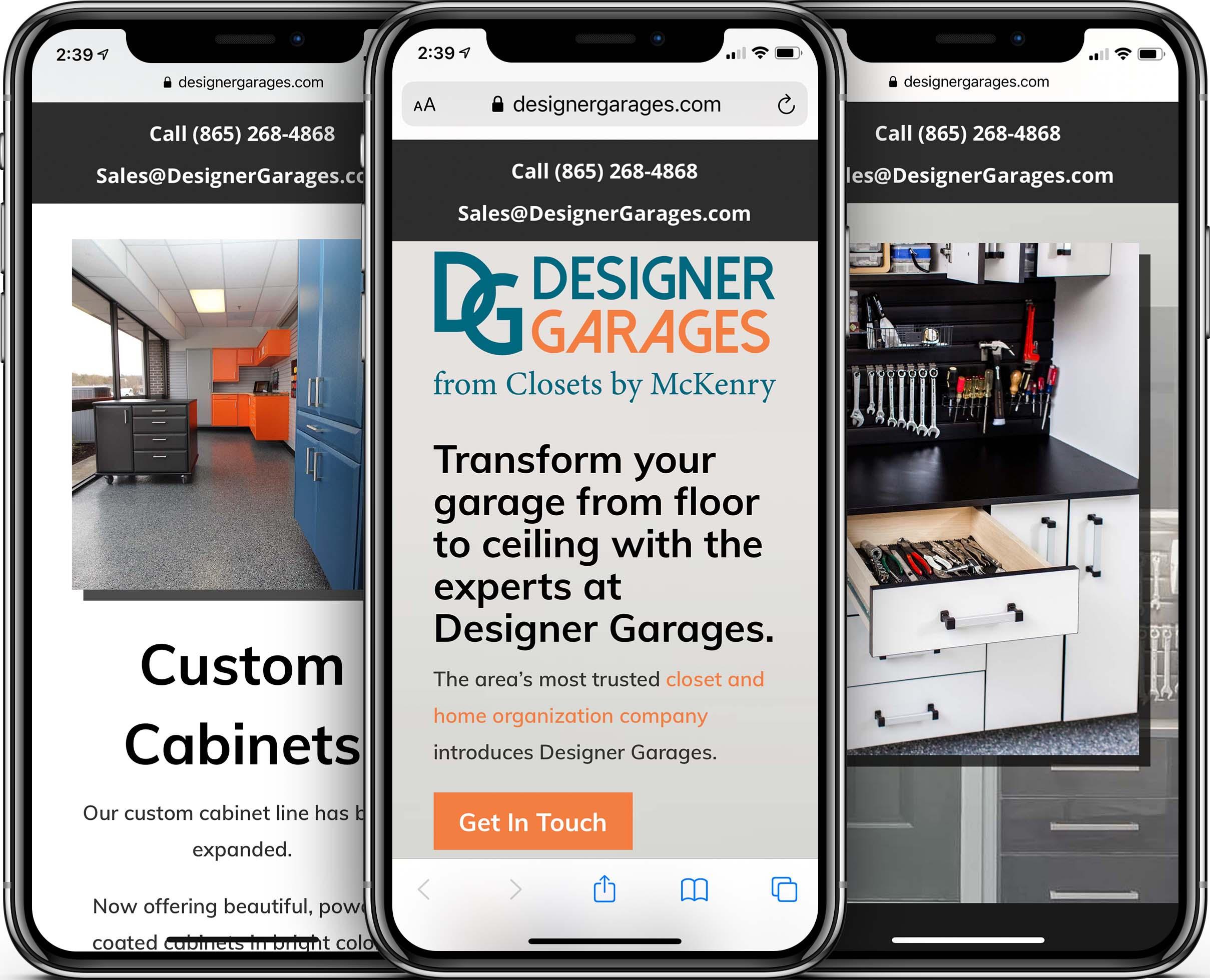 Designer Garages Mobile-Friendly Web Design