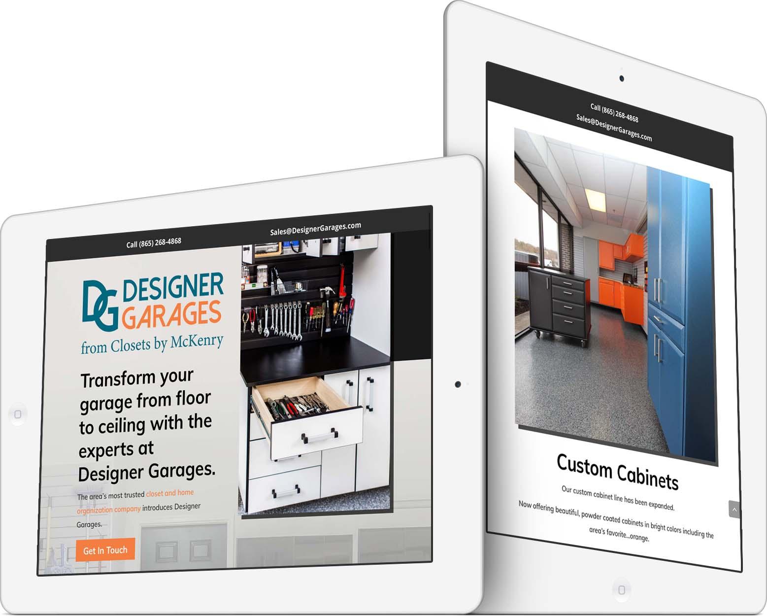 Designer Garages Responsive Web Design