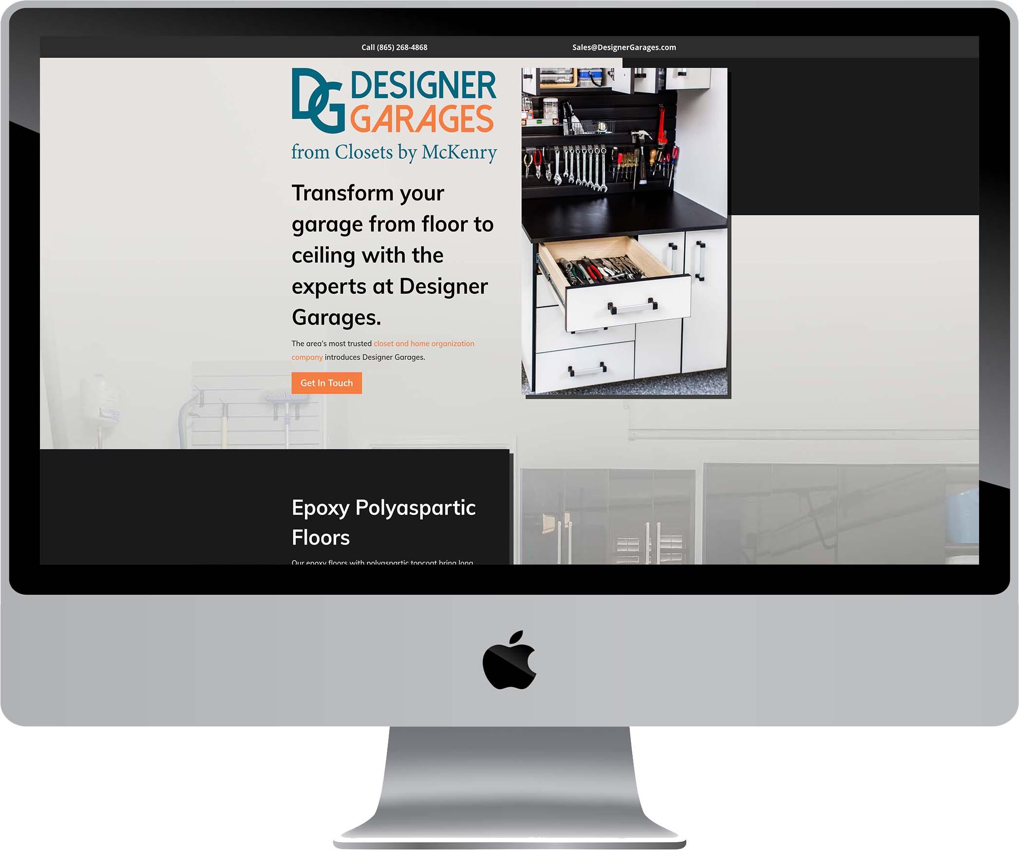 Designer Garages Website Design
