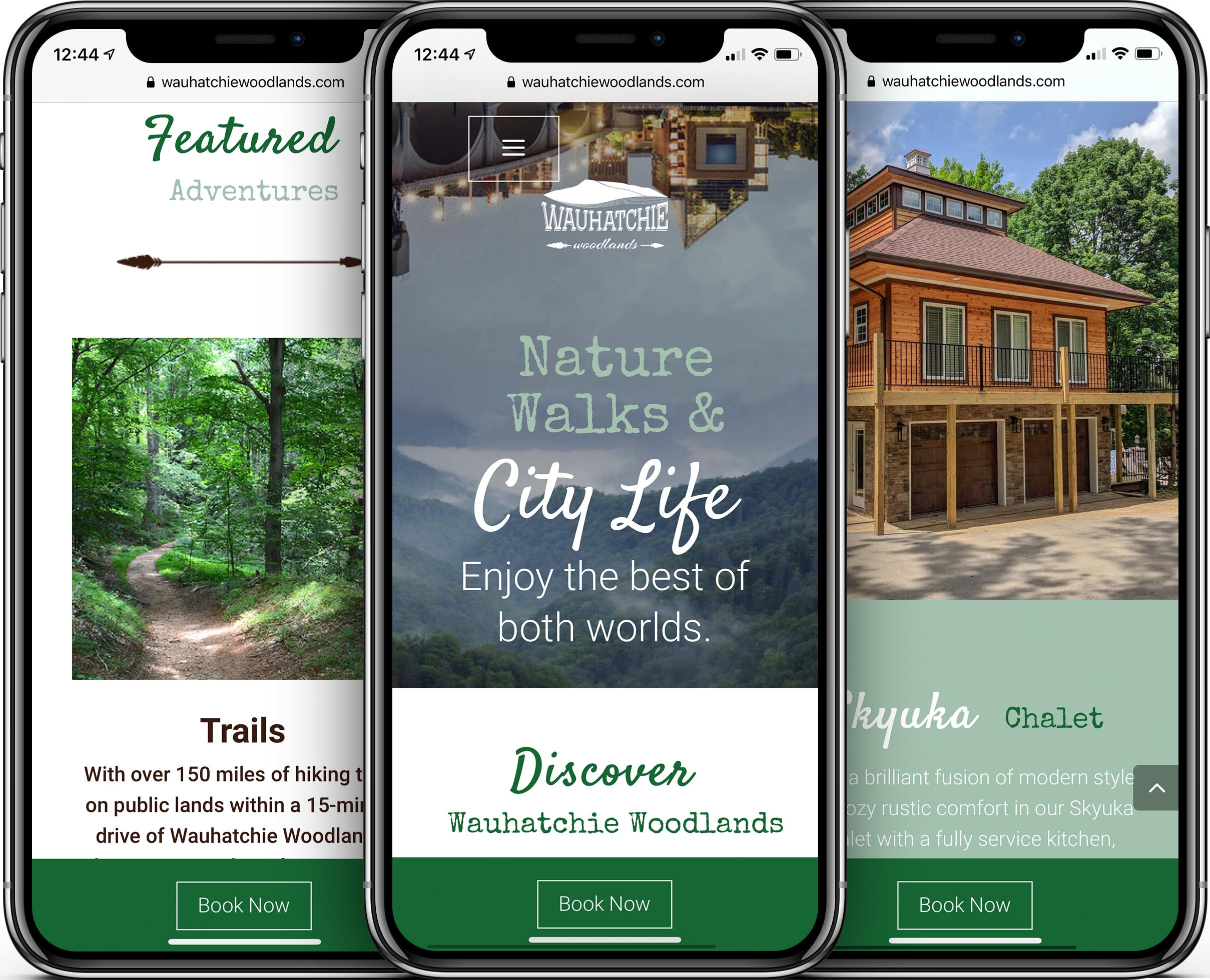 Wauhatchie Woodlands Mobile-Friendly Web Design