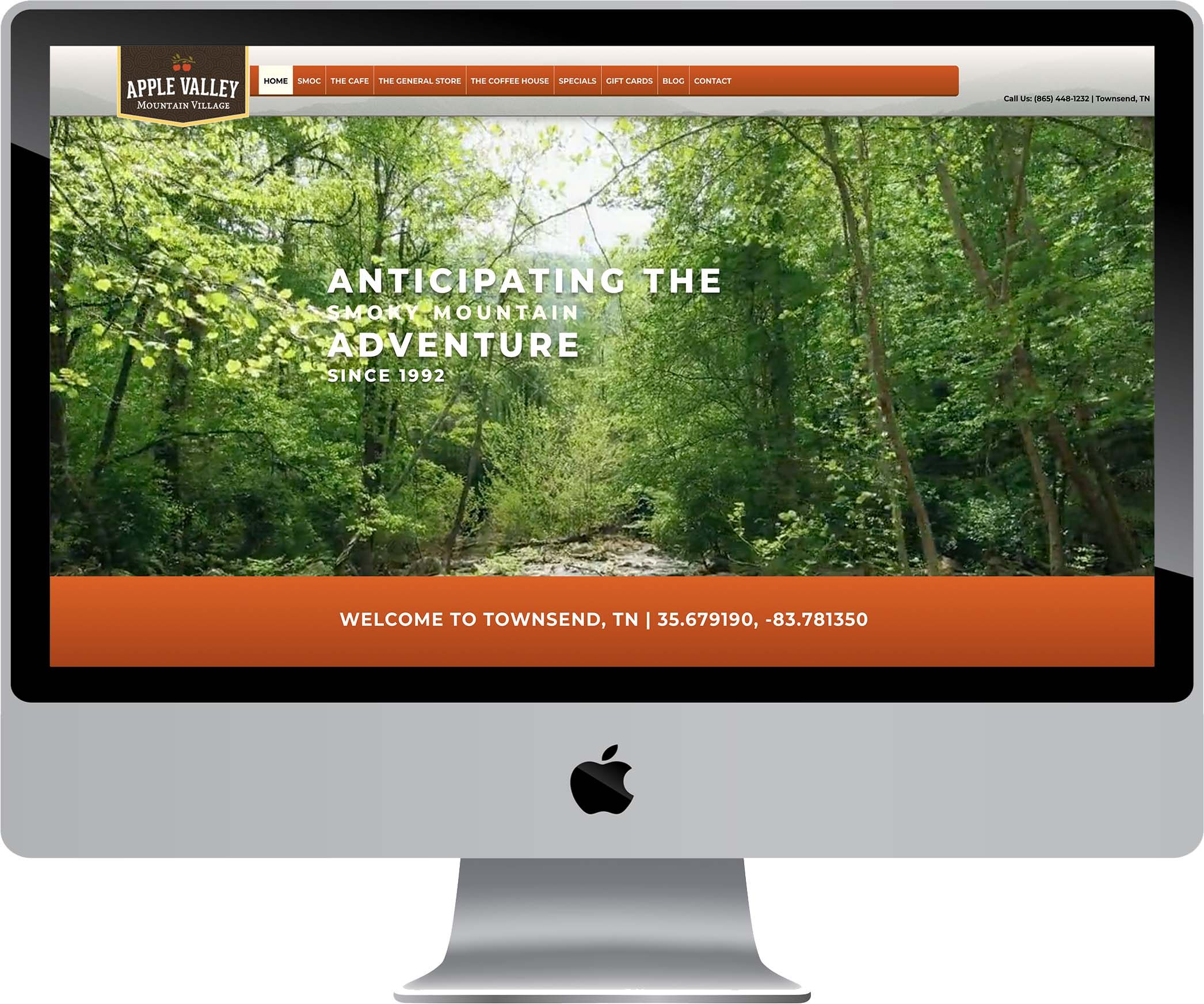 Apple Valley Mountain Village Website Design