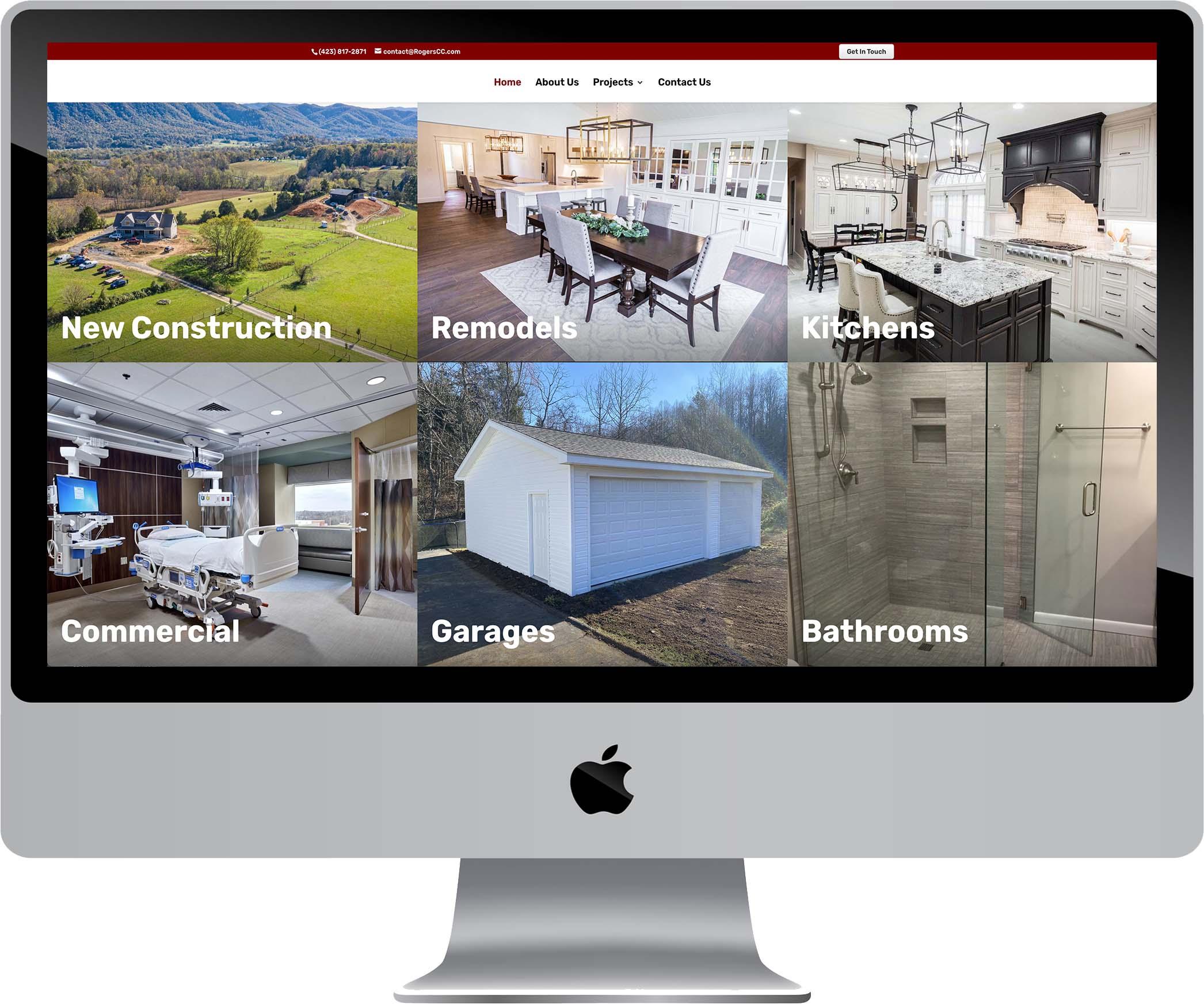 Rogers Custom Construction Website Design