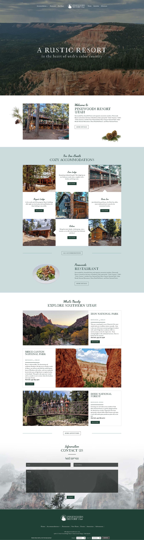 Pinewoods Resort Homepage Screenshot