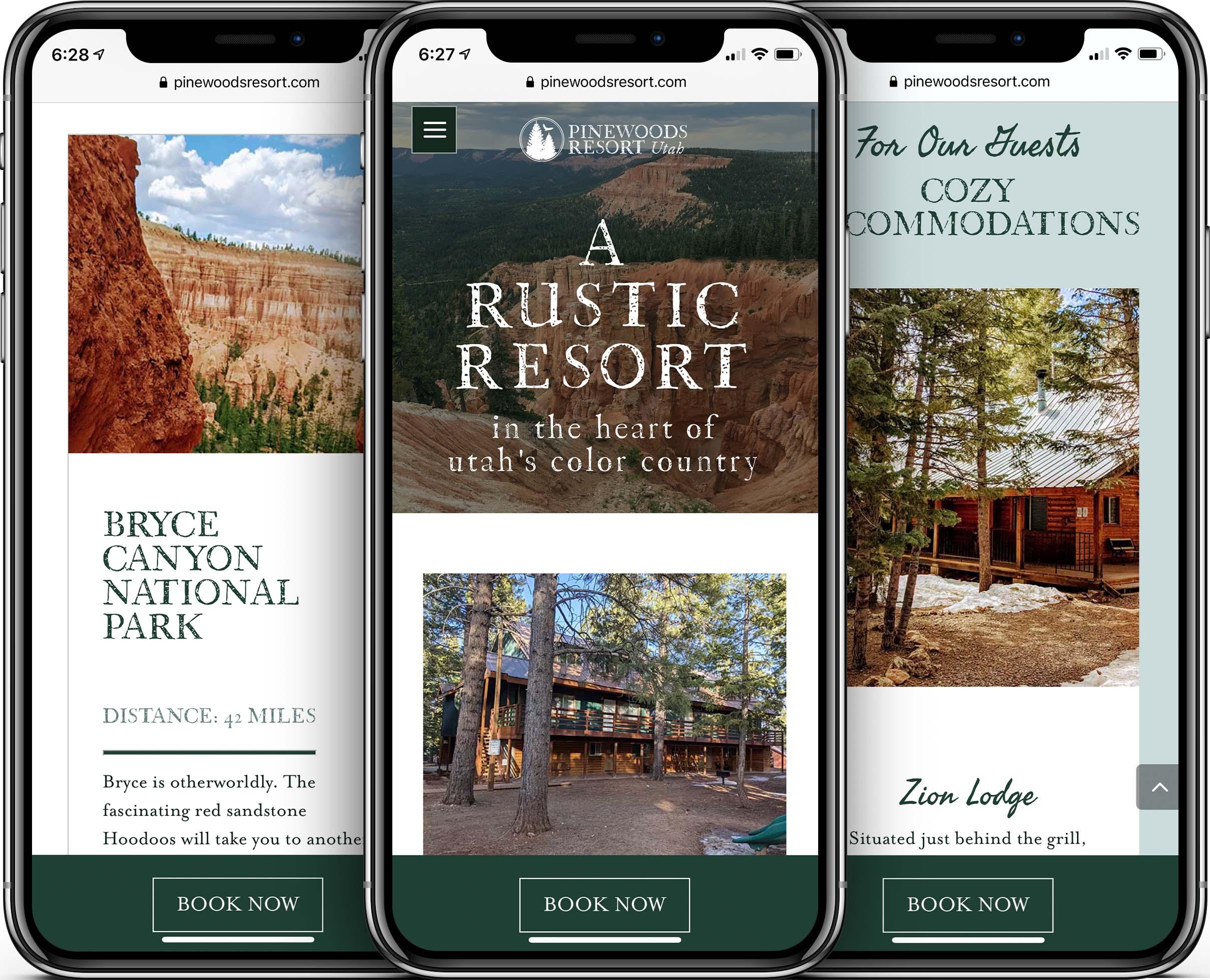 Pinewoods Resort Mobile-Friendly Web Design