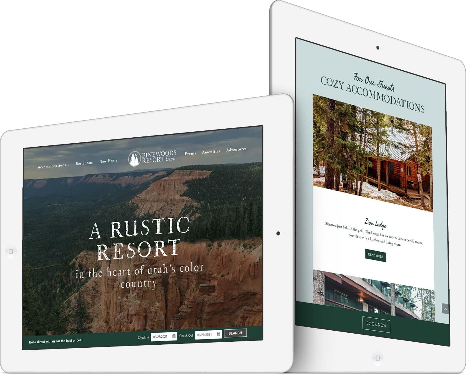 Pinewoods Resort Responsive Web Design