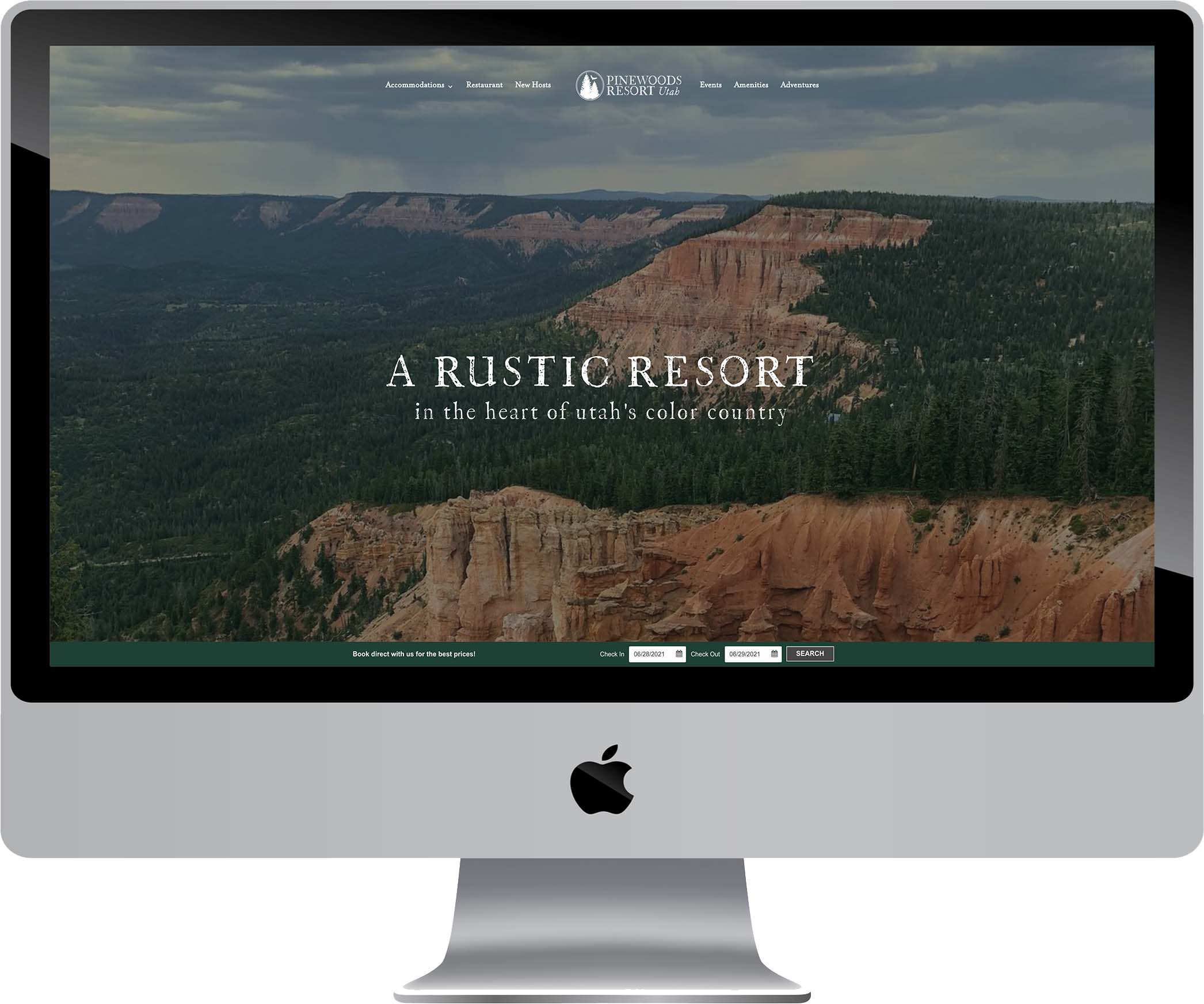 Pinewoods Resort Website Design