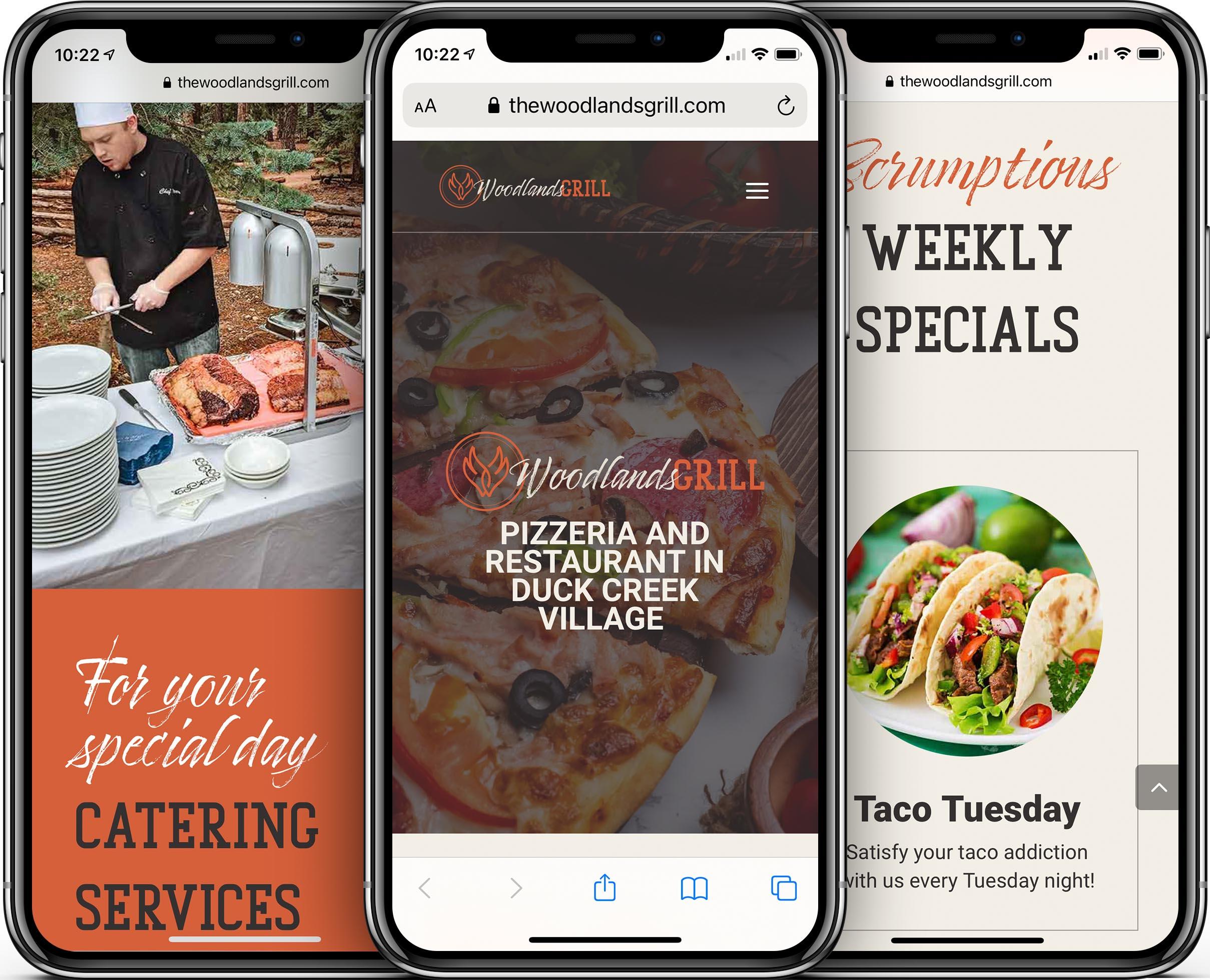 Woodlands Grill Mobile-Friendly Web Design
