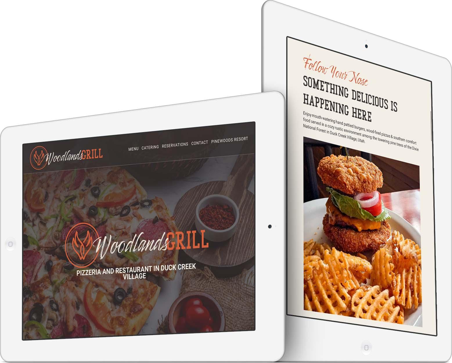 Woodlands Grill Responsive Web Design