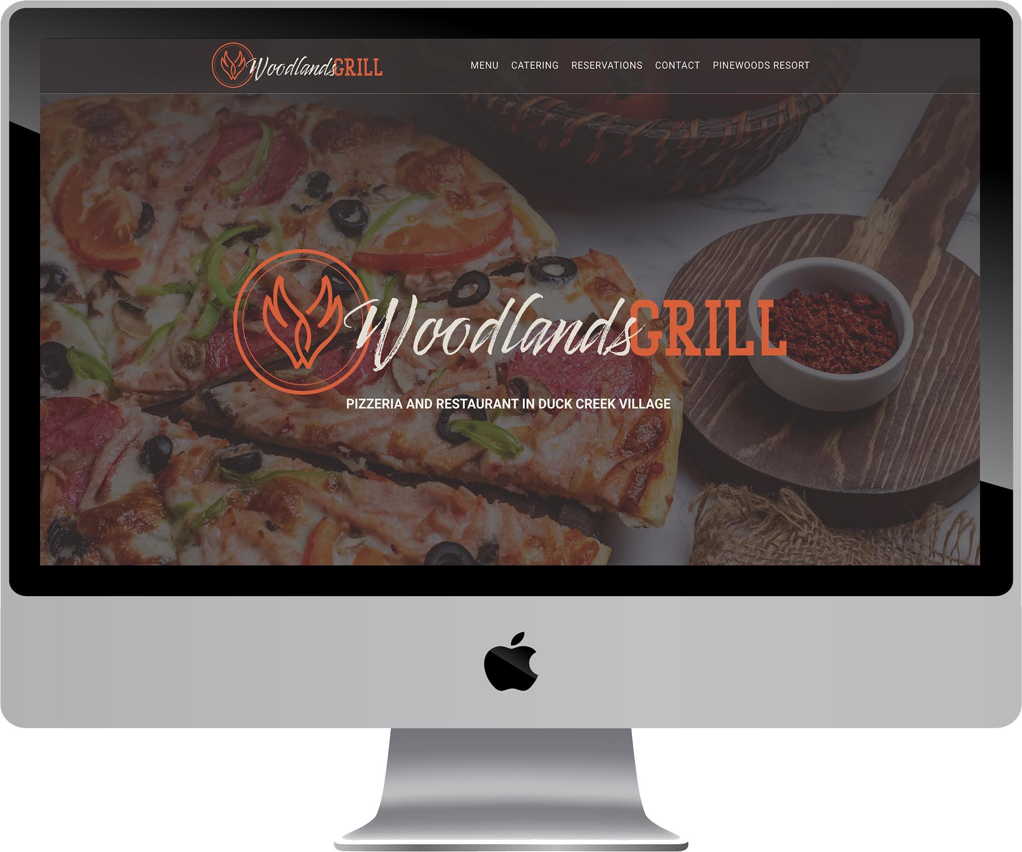 Woodlands Grill Website Design