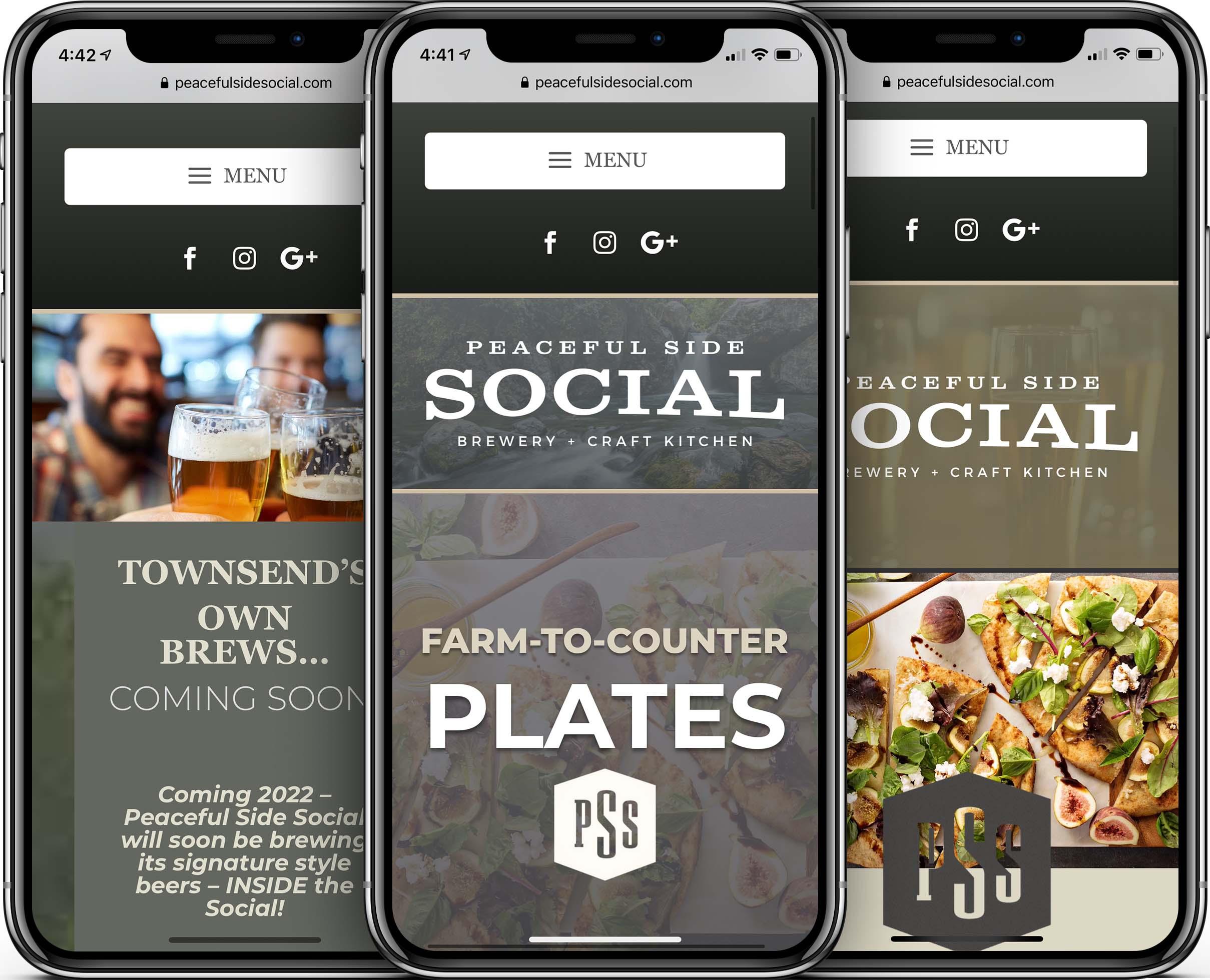 Peaceful Side Social Mobile-Friendly Web Design