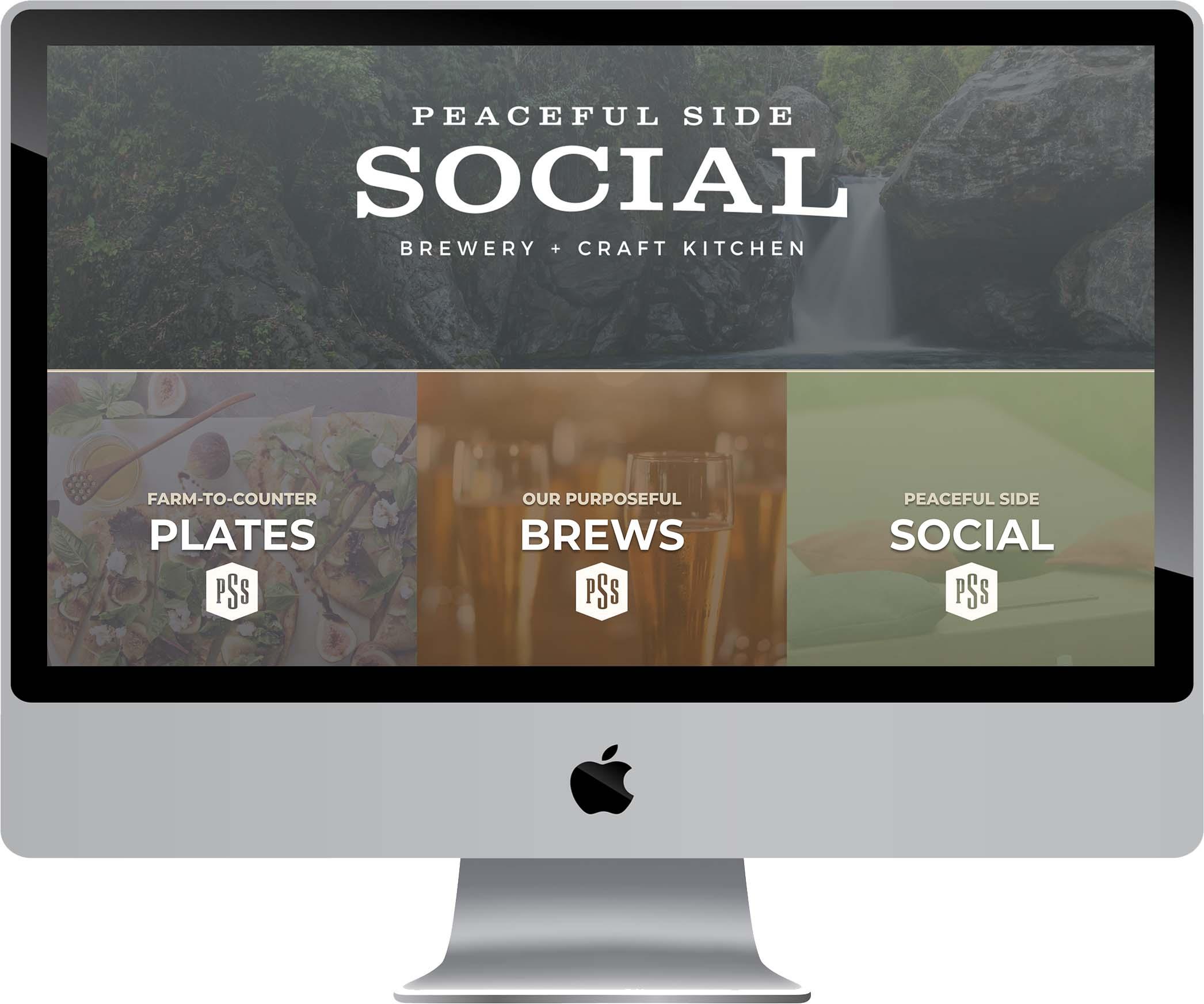 Peaceful Side Social Website Design